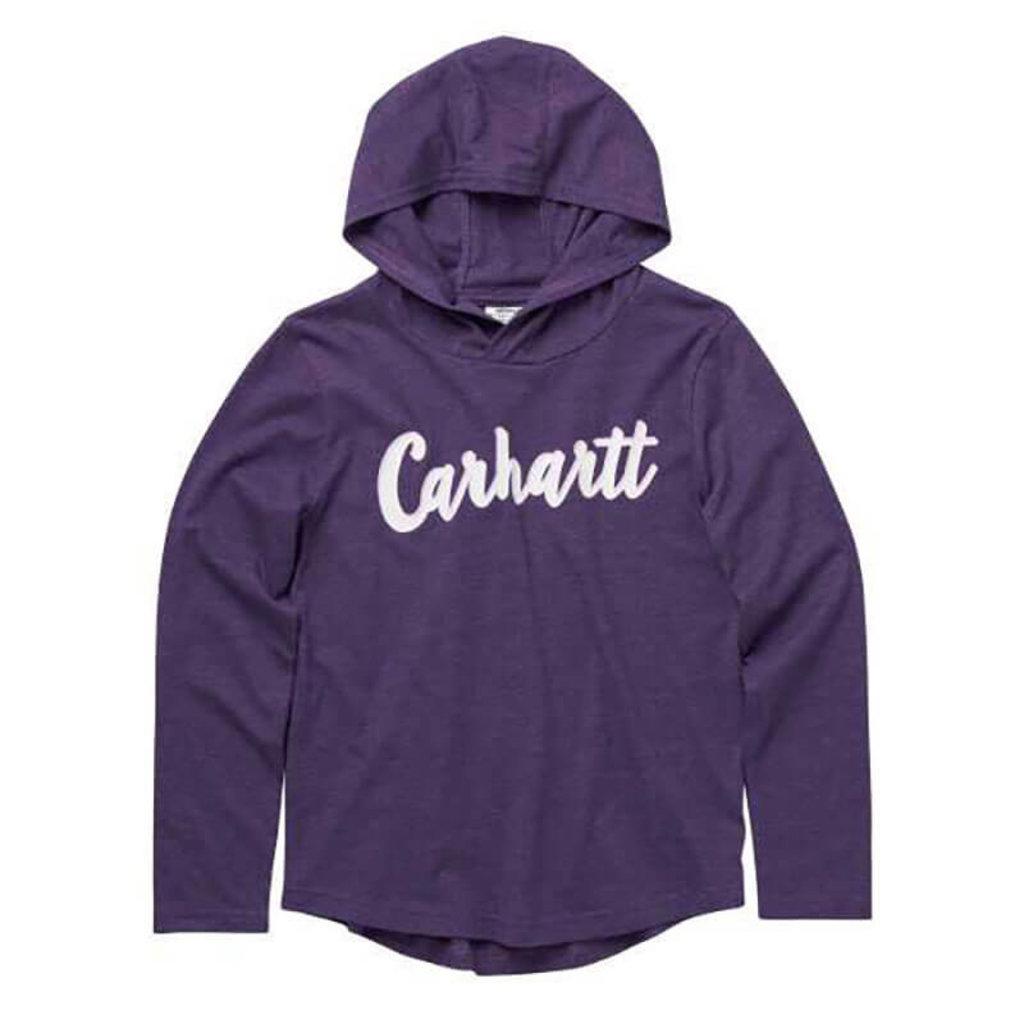 Carhartt CA9830 - Long-Sleeve Heather Hooded Graphic T-Shirt