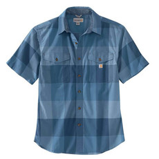 Carhartt 104623 - Rugged Flex Relaxed Fit Lightweight Short-Sleeve Plaid Shirt