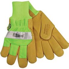 Kinco Kinco 1939KWP HI-VIS Green Lined Grain Pigskin Leather Palm Work Glove