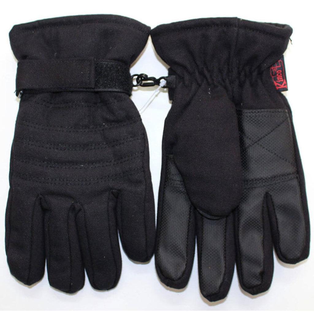 Kinco Kinco 1171 Black Thermal Lined Waterproof Duck Fabric Snow Ski Gloves