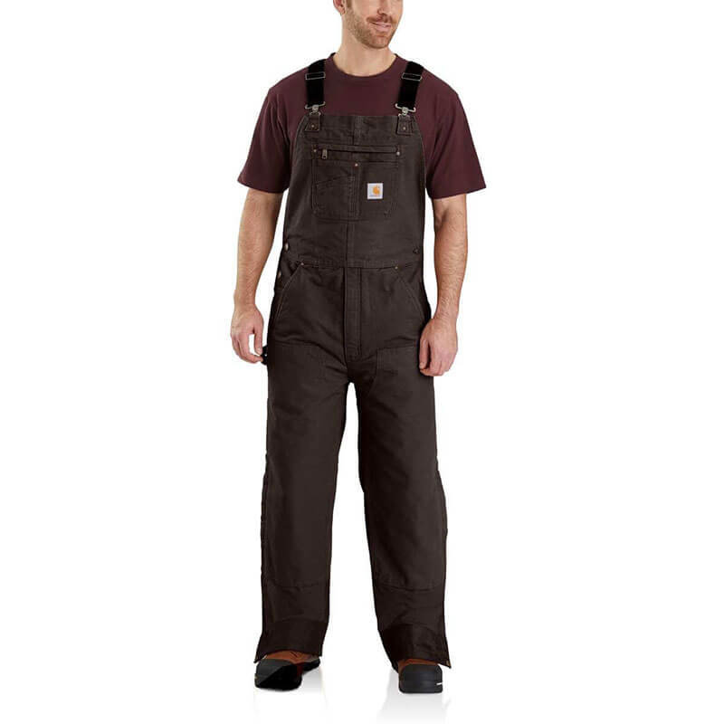 Carhartt 104031 - Loose Fit Washed Duck Insulated Bib Overalls