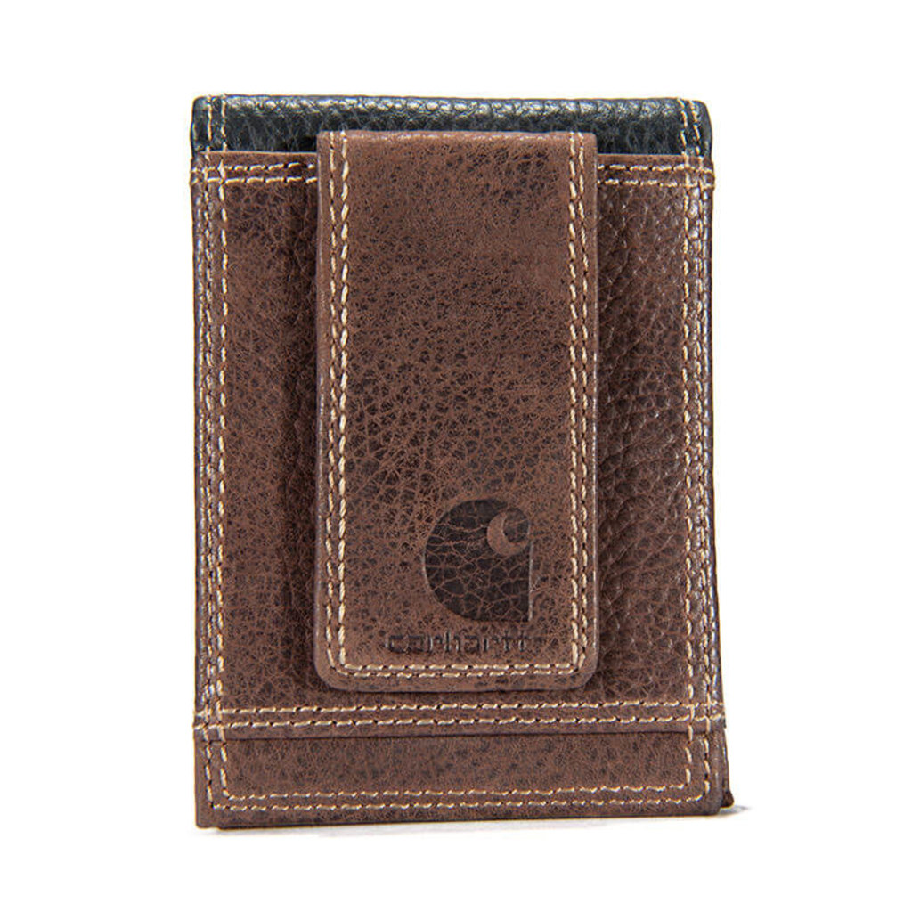 Carhartt Leather Two-Tone Front Pocket Wallet