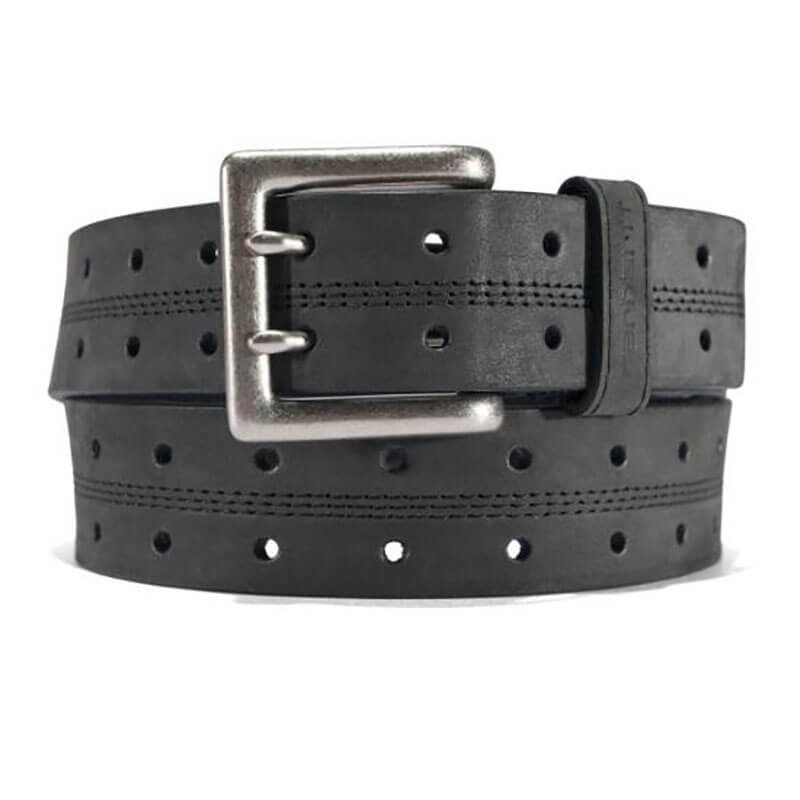 Carhartt Saddle Leather Double Prong Perforated Belt