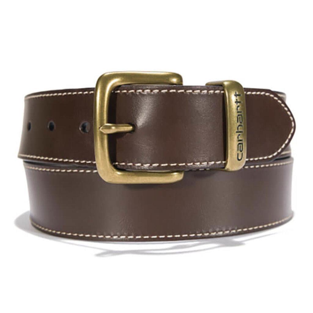 Carhartt Bridle Leather Debossed Metal Keeper Belt