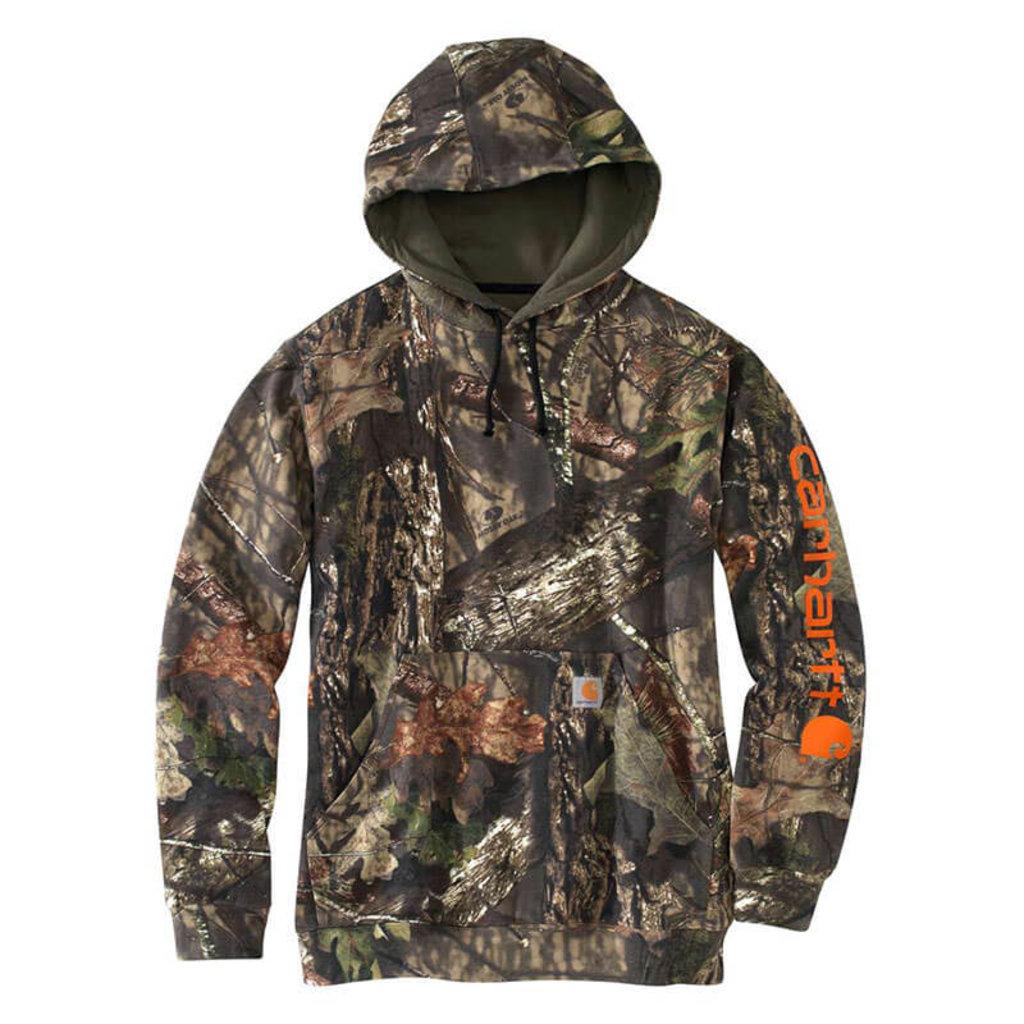 Carhartt 101763 - Midweight Camo Sleeve Logo Hooded Sweatshirt