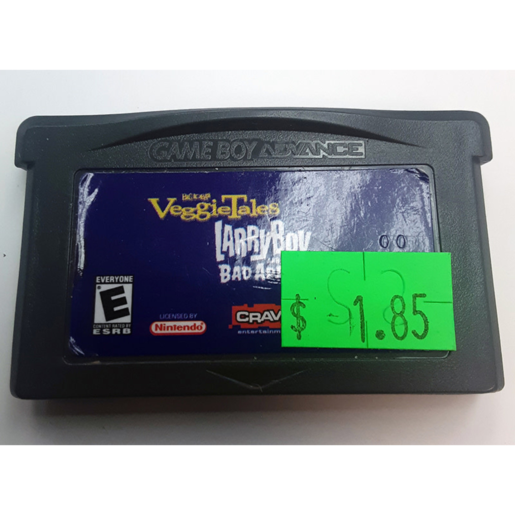 GBAu-Veggie Tales Larry Boy and the Bad Apple (cartridge)