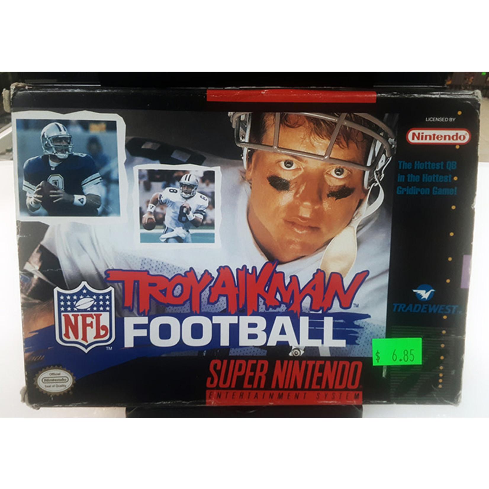 Snesu-Troy Aikman Football (in Box)
