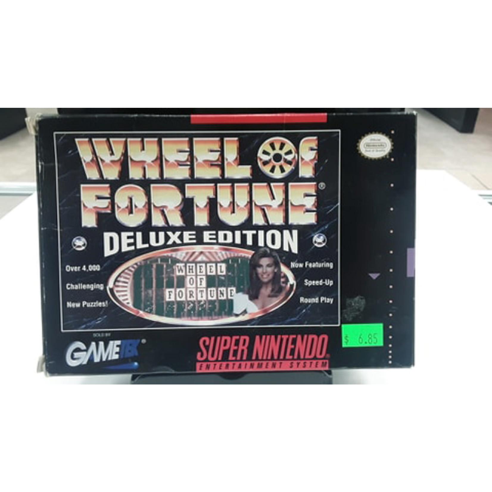 Snesu-Wheel of Fortune Deluxe Edition (In Box)