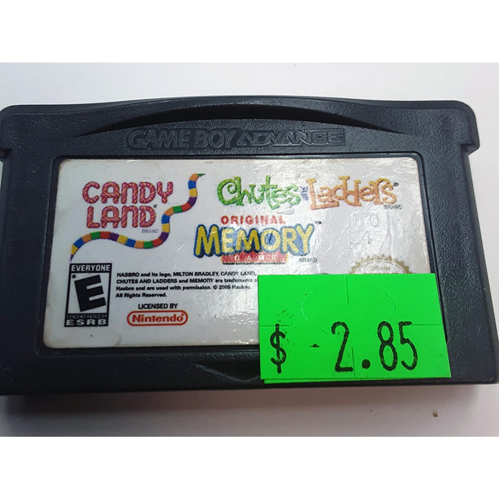 GBAu-Candy Land / Chutes & Ladders / Memory (cartridge)