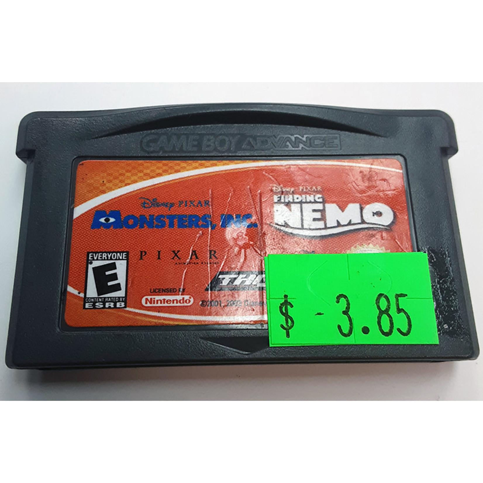 GBAu-Monsters inc / Finding Nemo (cartridge)