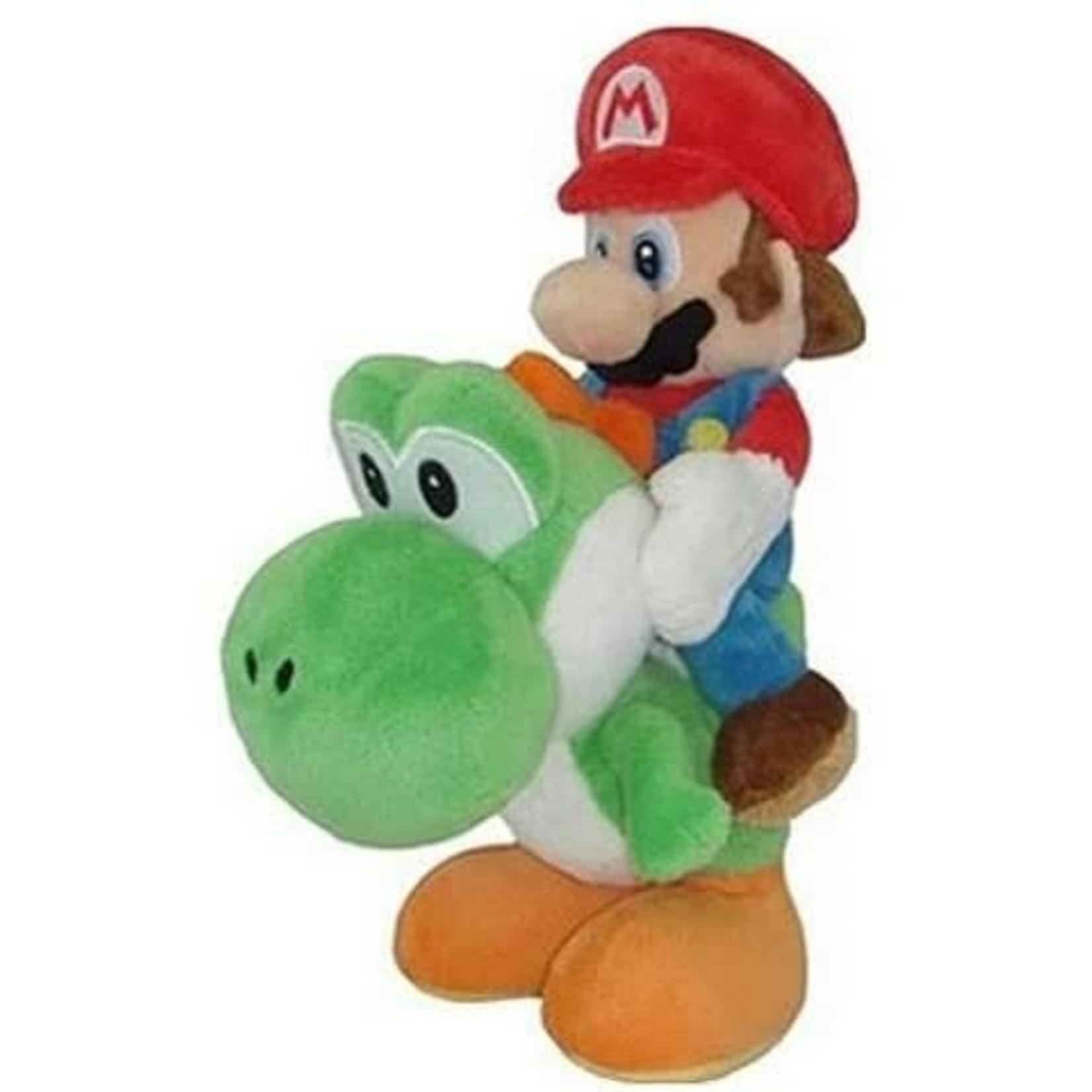 """Plush-Mario & Yoshi 8"""" plush"""