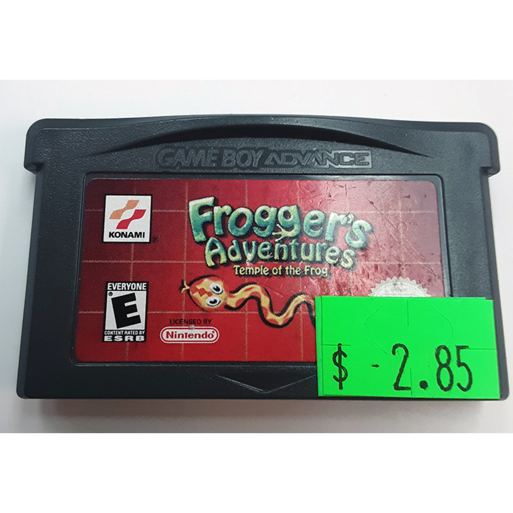 GBAu-Frogger's Adventures Temple of the Frog (cartridge)