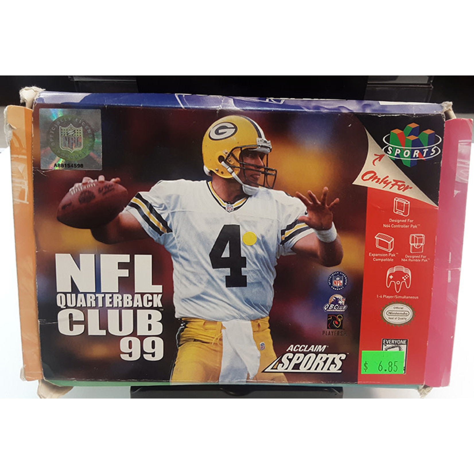 N64U-NFL QUARTERBACK CLUB 99 BOXED