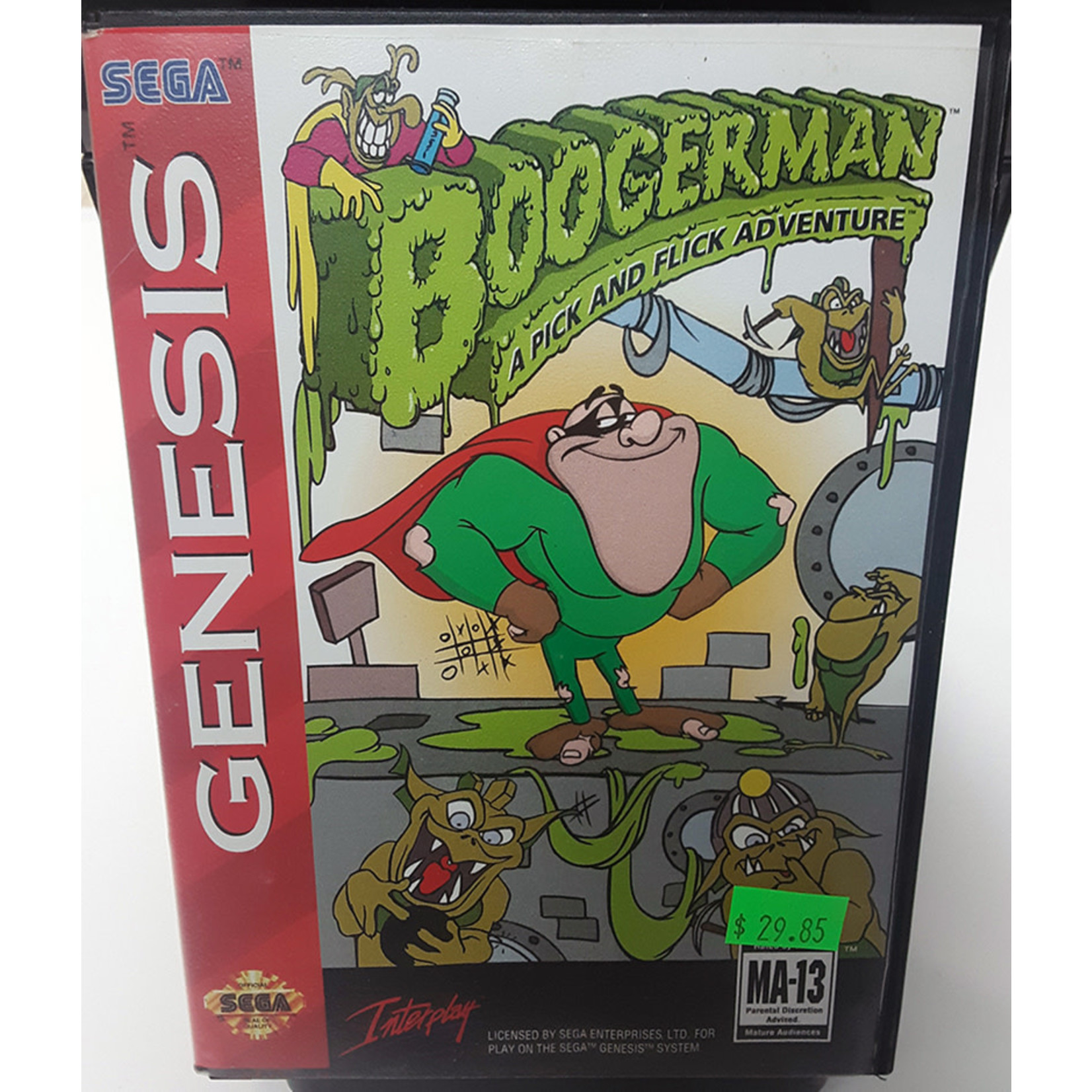sgu-Boogerman A Pick and Flick Adventure in box (cartridge)