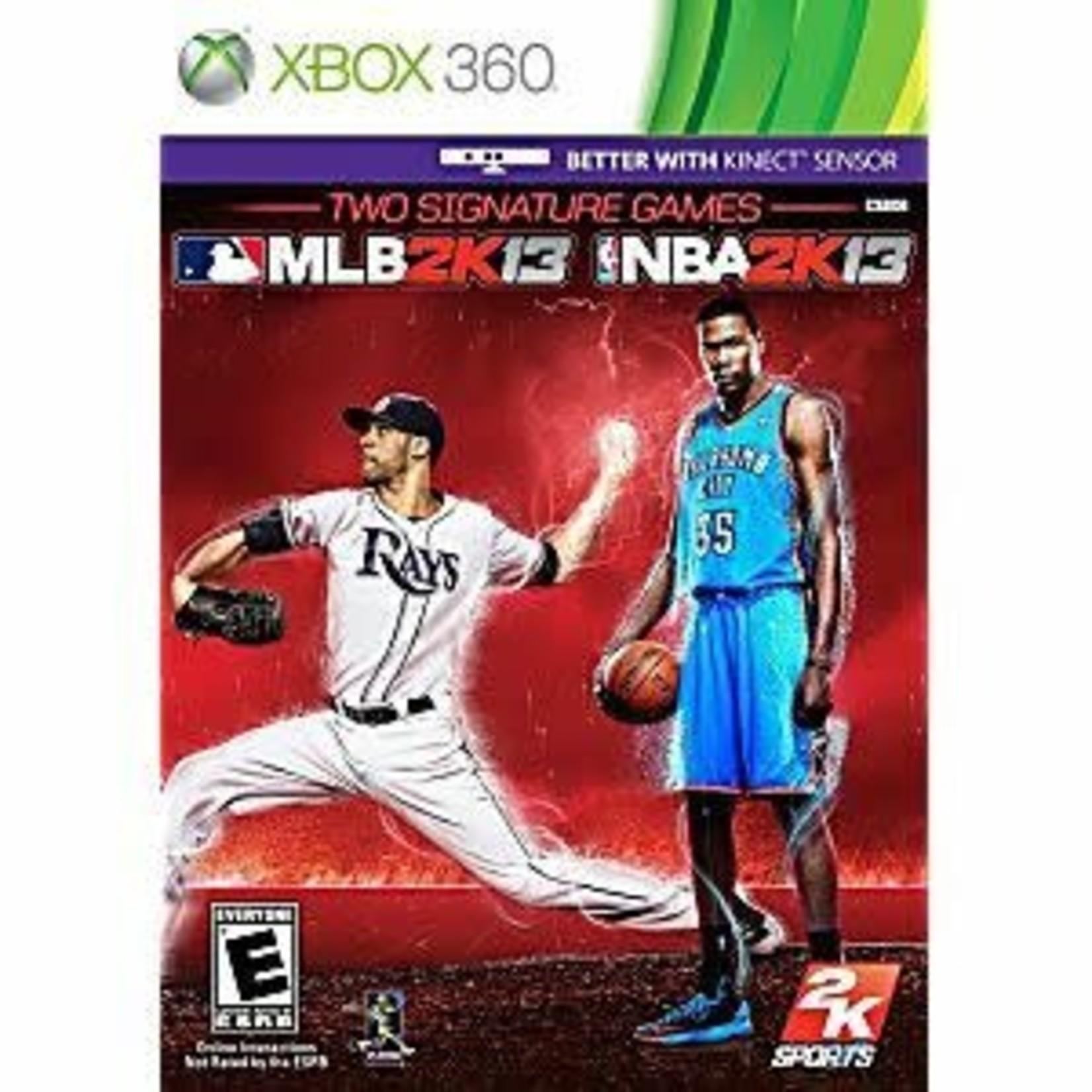 X3U-MLB 2K13 and NBA 2K13 signature games