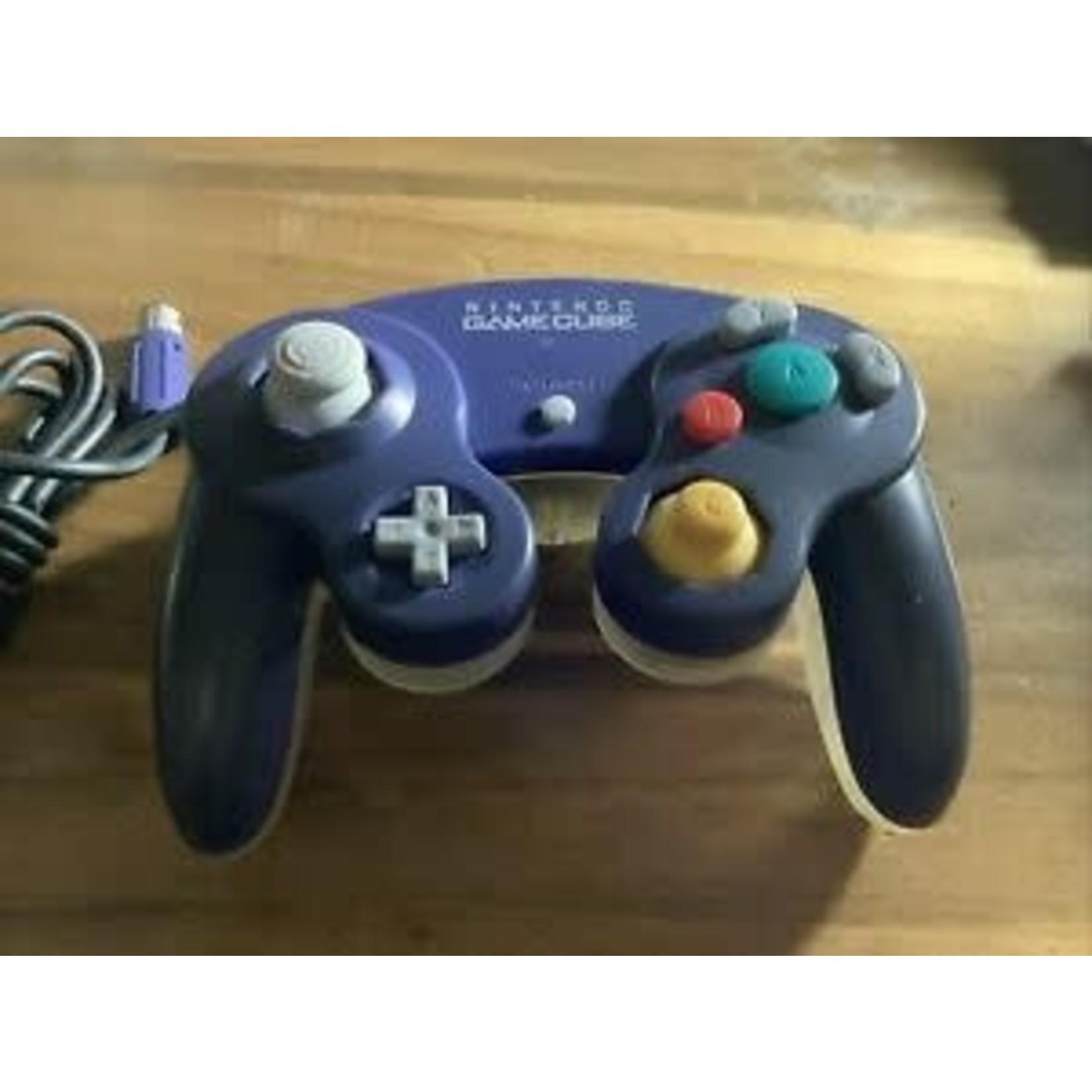 GCU-Used dual color Gamecube controller Violet/Clear