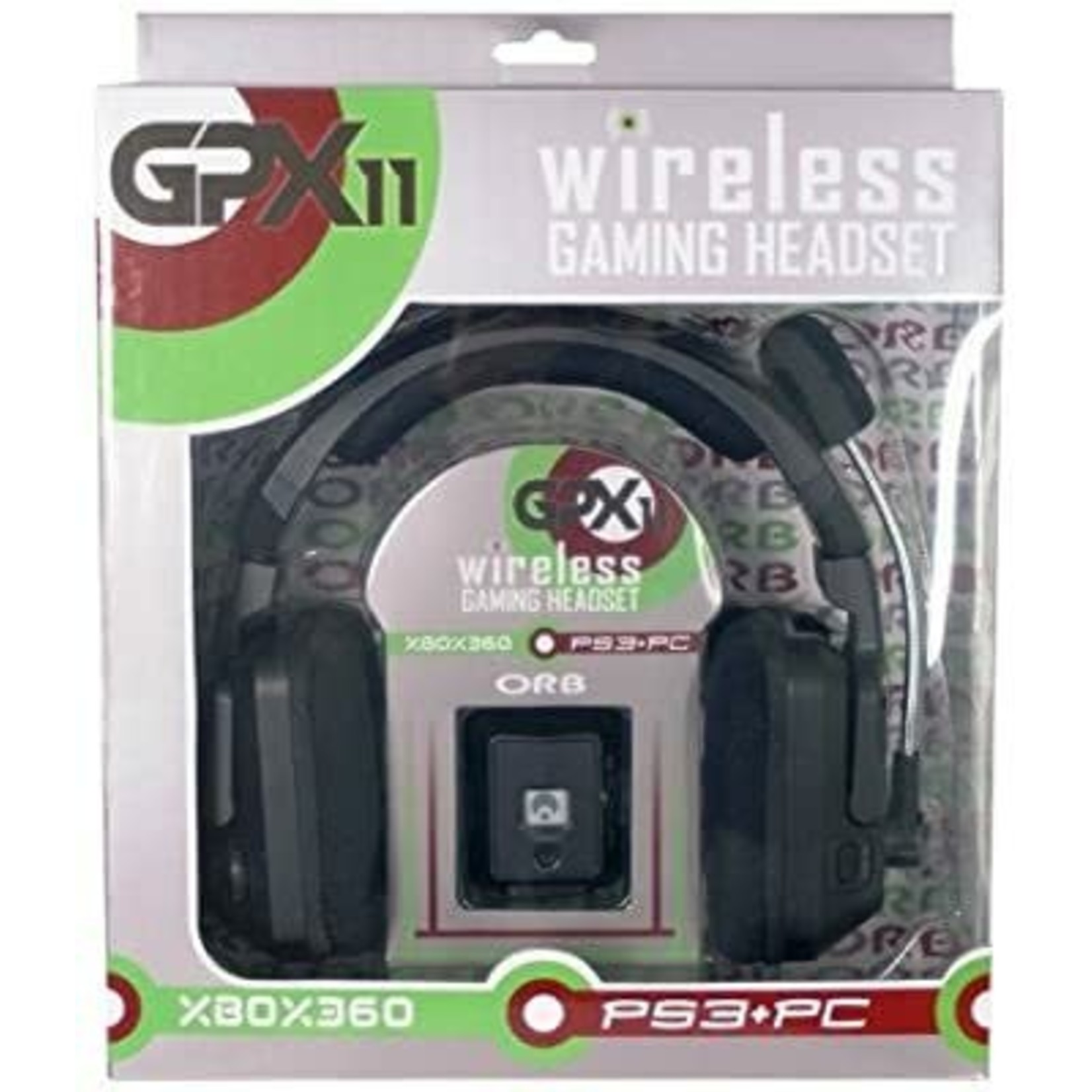 GPX 11 Wireless Headset for Xbox 360/PS3/PC