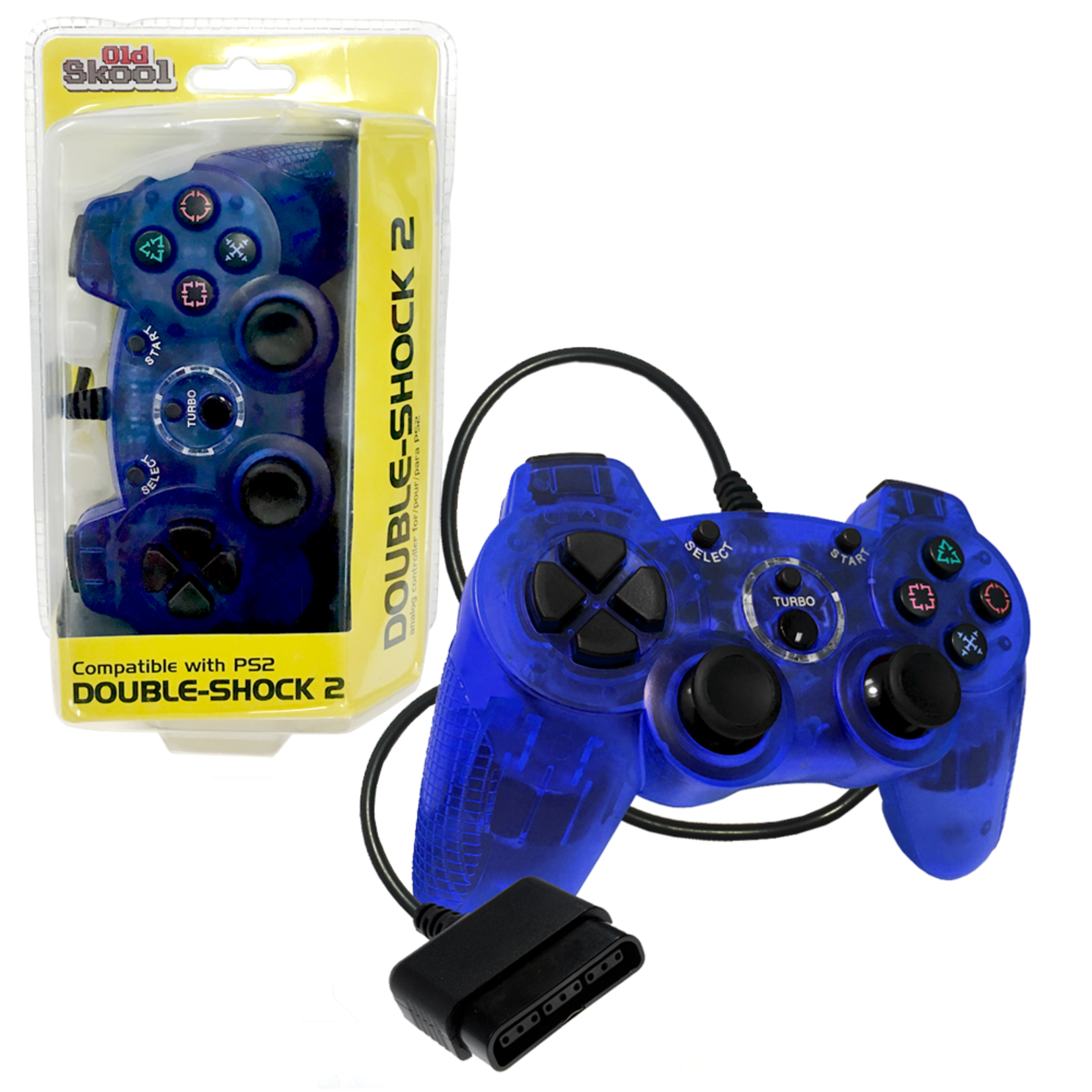 Old Skool Double Shock PS2 Controller (blue)
