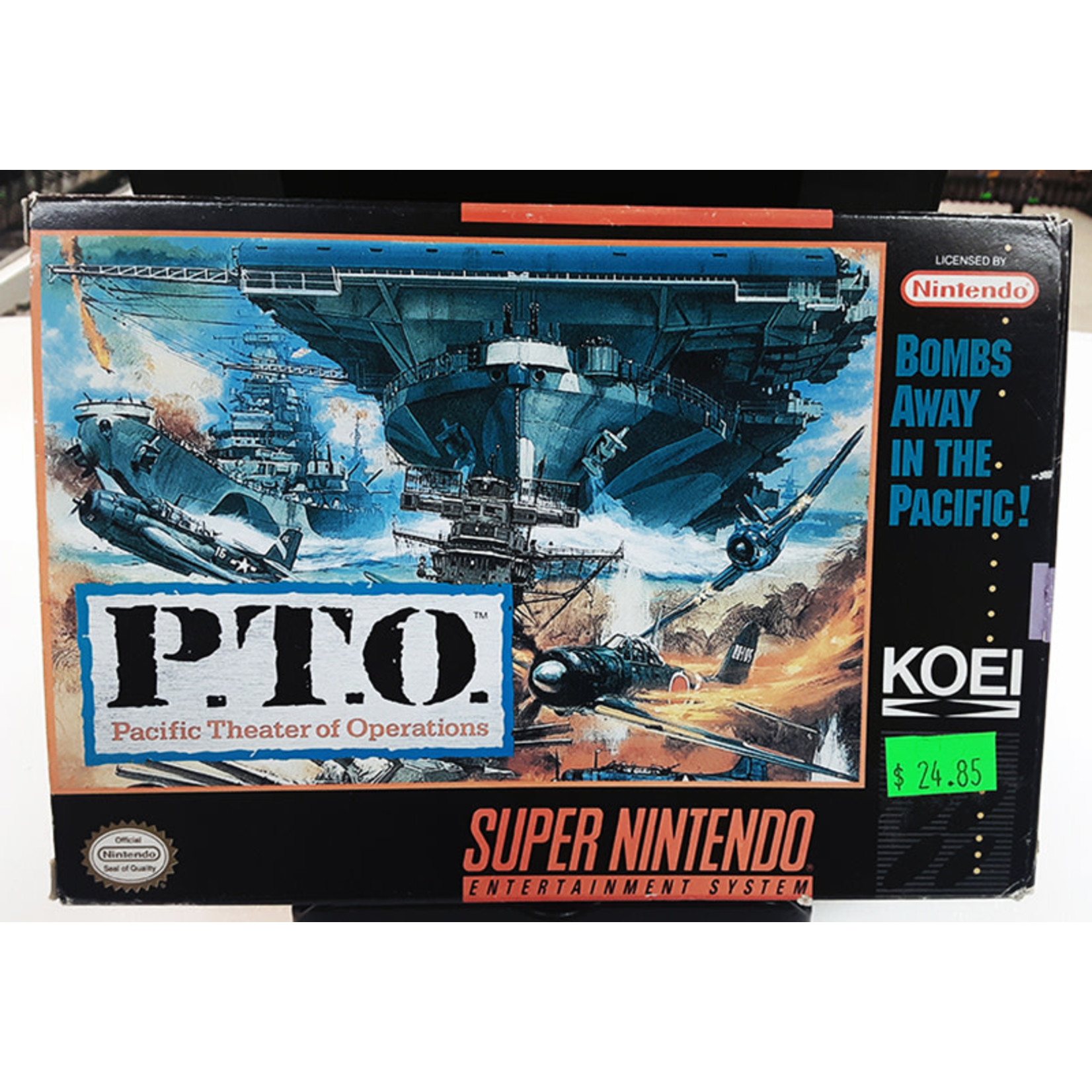 snesu-P.T.O Pacific Theater of Operations (in box)
