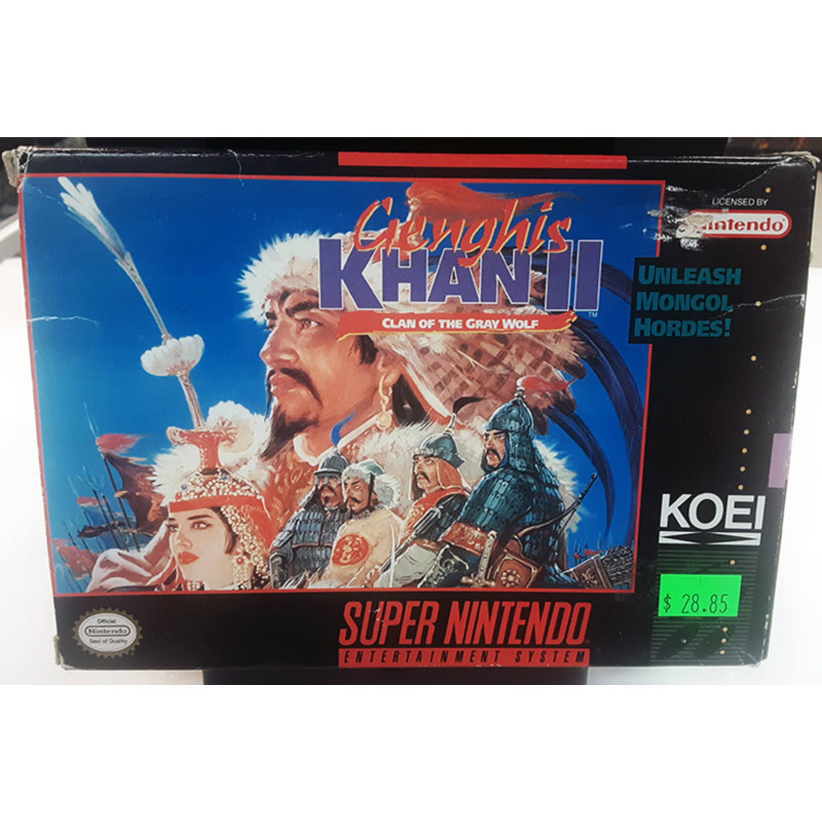 snesu-Genghis Khan 2: Clan of the Gay Wolf (in box, incomplete)
