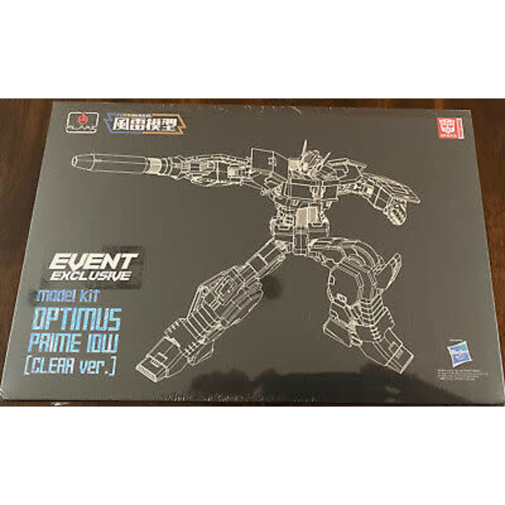 Optimus Prime IDW (Clear Ver) Transformers Flame Toys