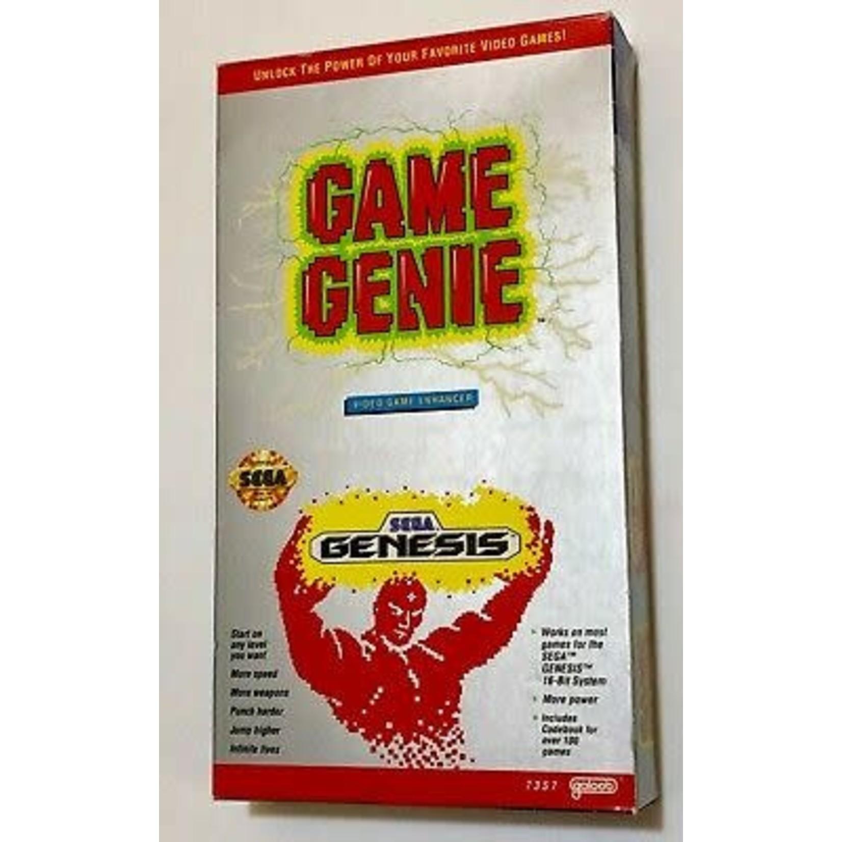 Complete Game Genie Video Game Enhancer (Sega Genesis) Cart Box Manual