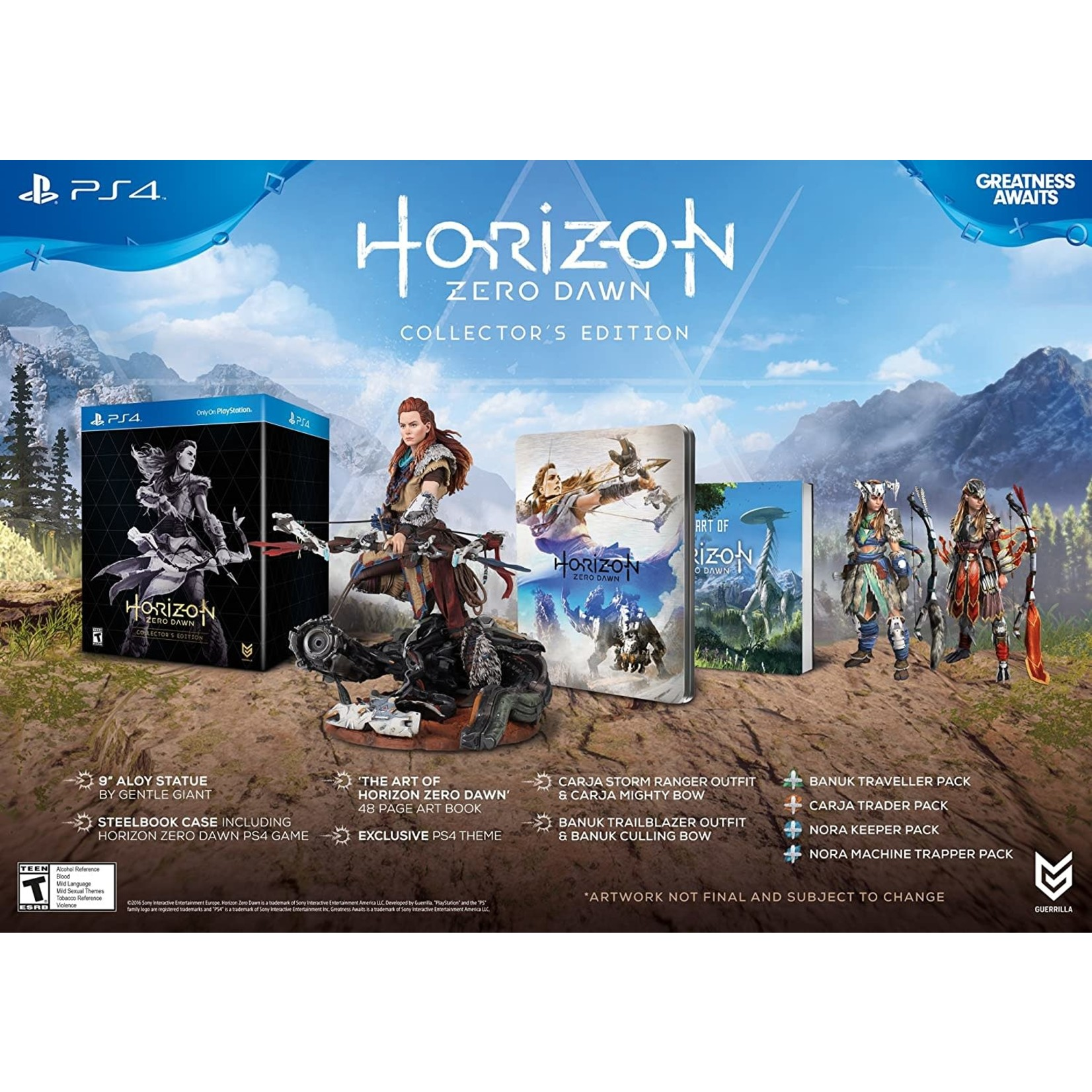 PS4-Horizon Zero Dawn Collector's Edition