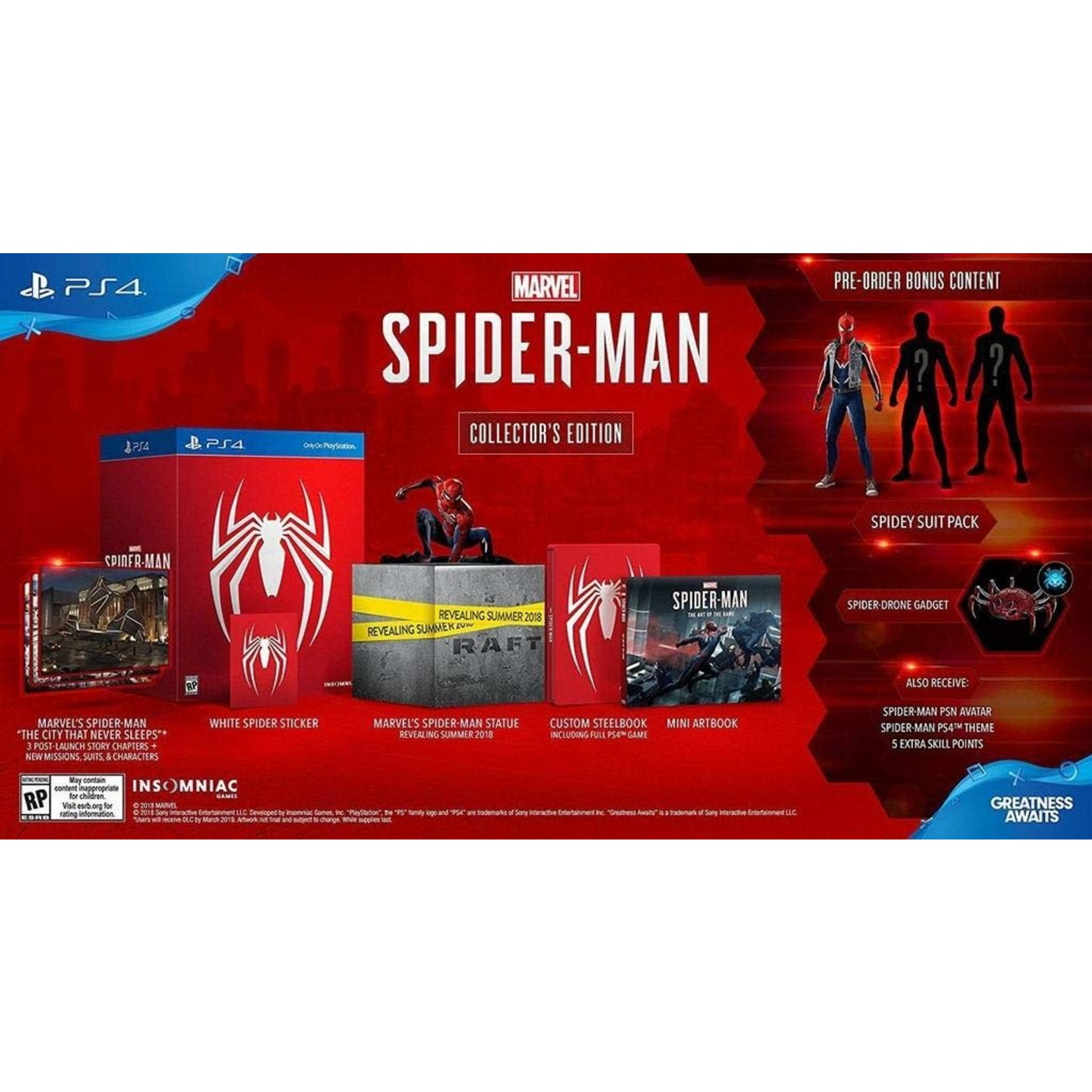 PS4-Marvel Spider Man Collector's Edition