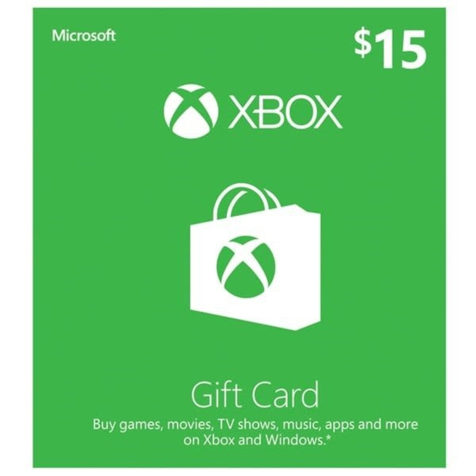 POINTS CARD-XBOX $15