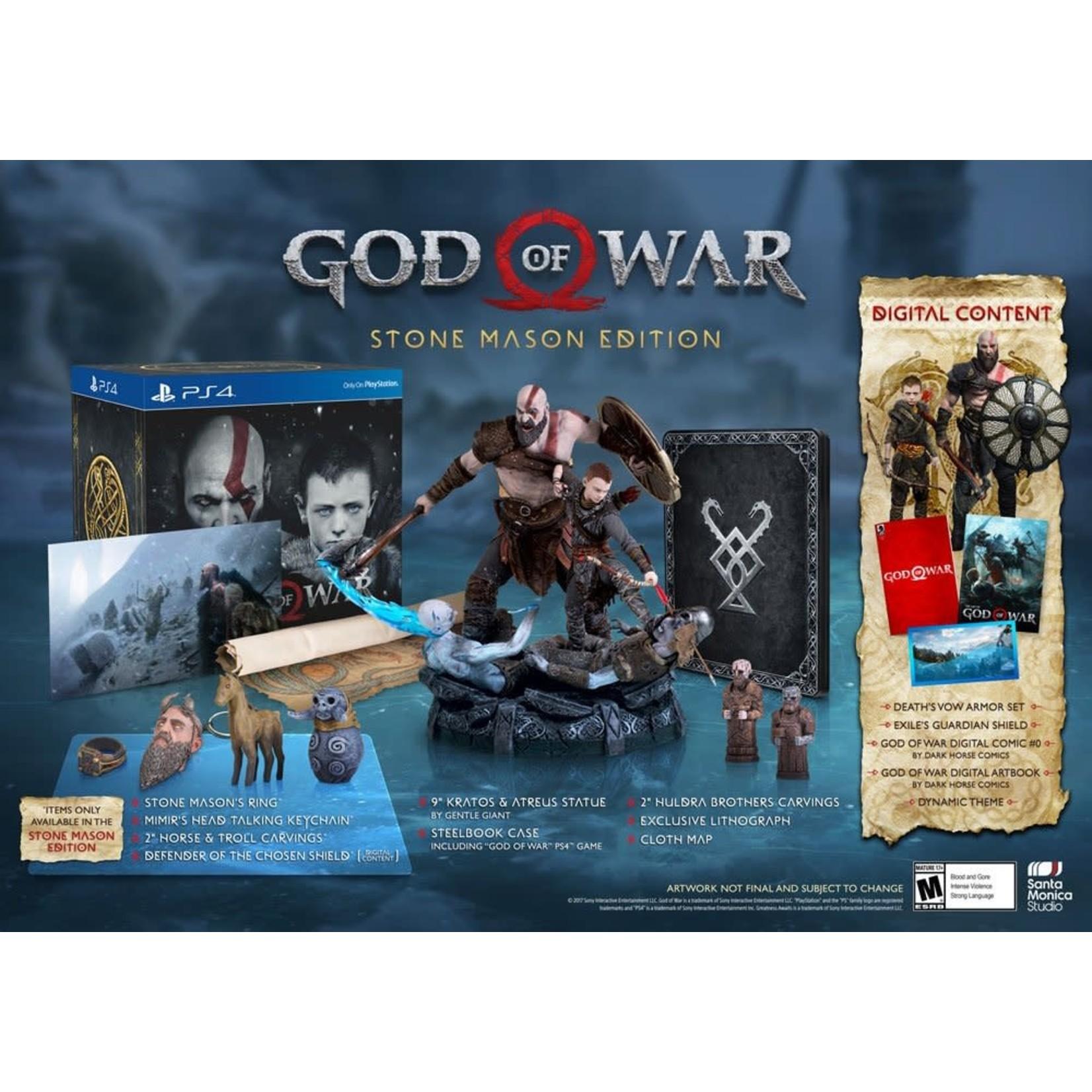 PS4-God of War Stone Mason Edition