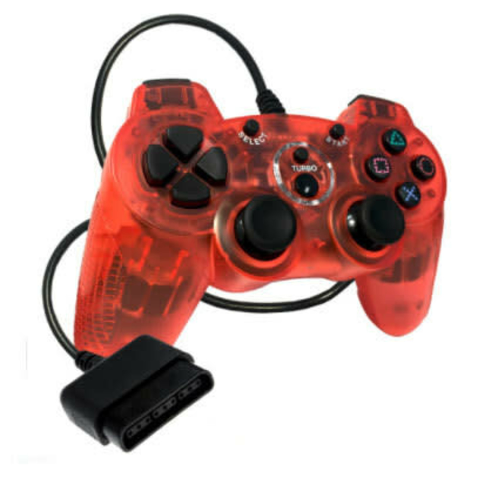 Old Skool Double Shock PS2 Controller (Red)
