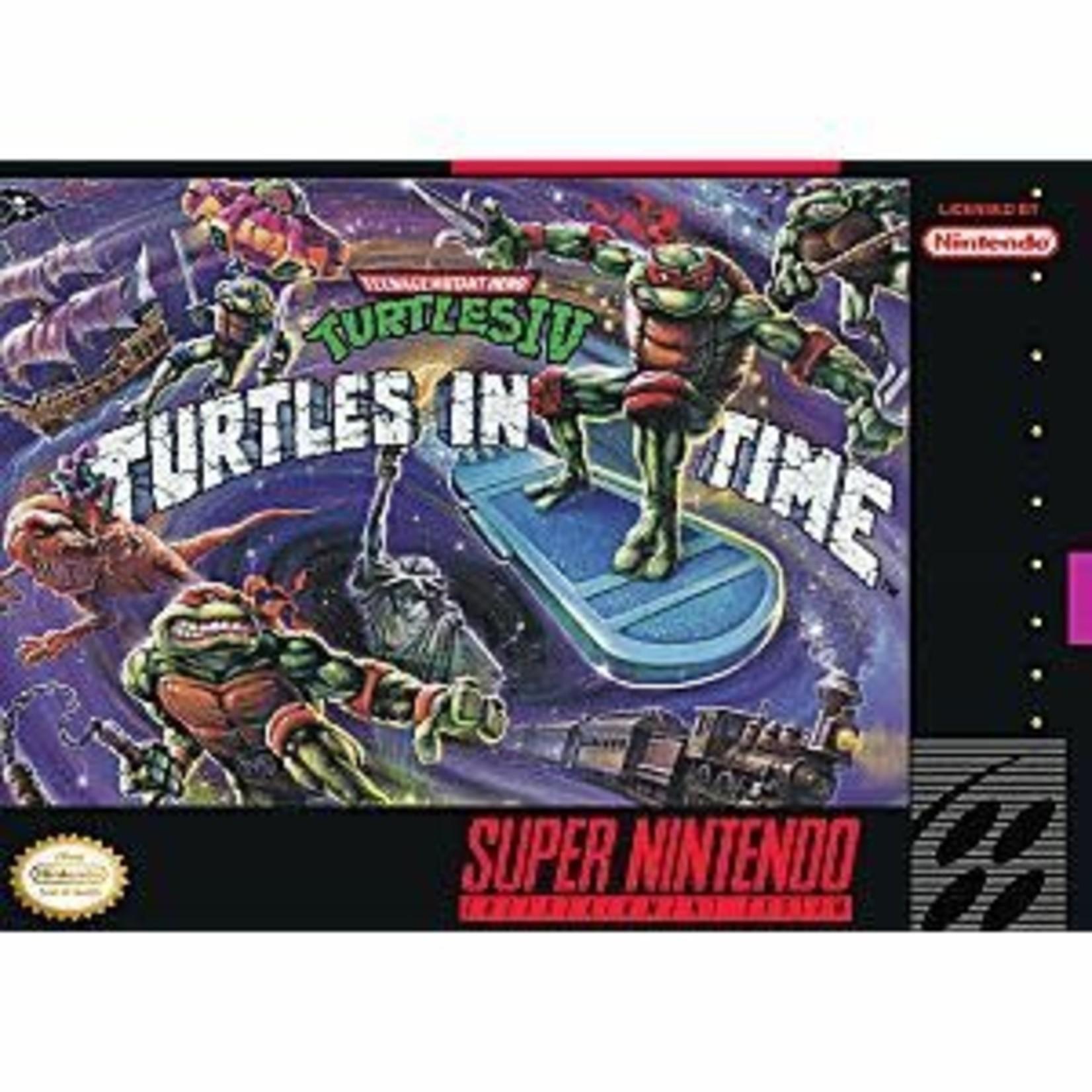 SNESu-Teenage Mutant Ninja Turtles IV Turtles in Time (cartridge)