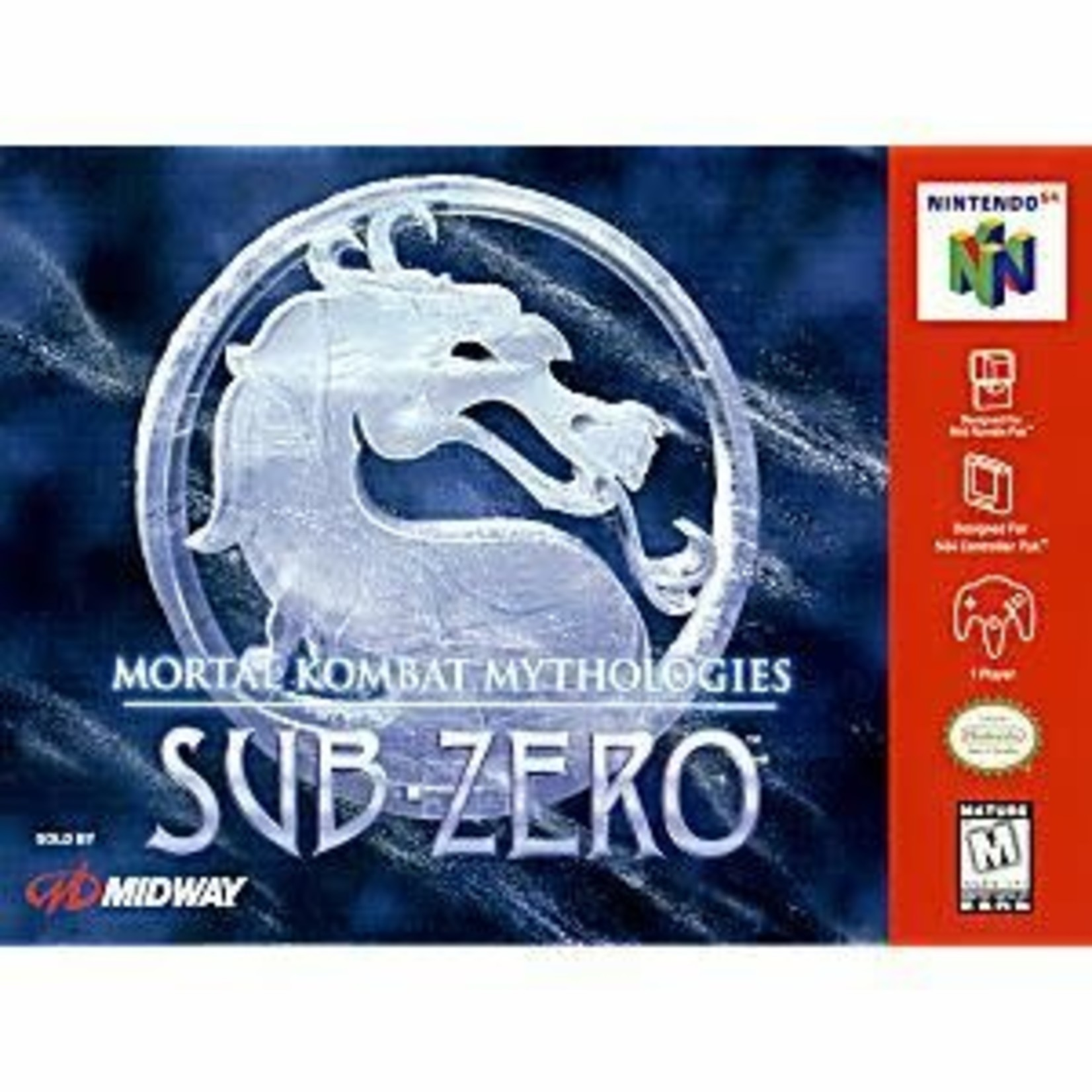 N64U-Mortal Kombat Mythologies: Sub-Zero (cartridge)