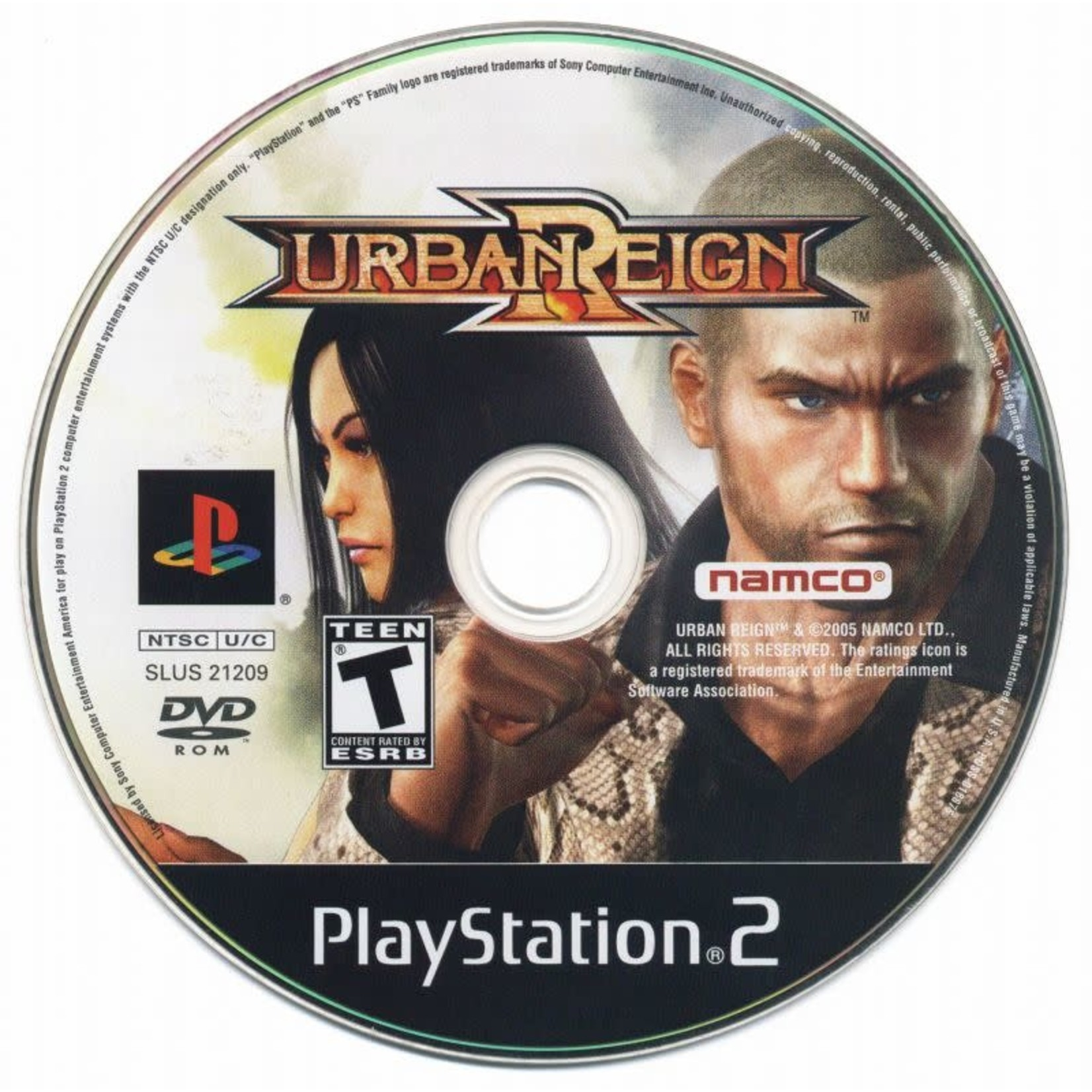ps2u-Urban Reign (disc only)