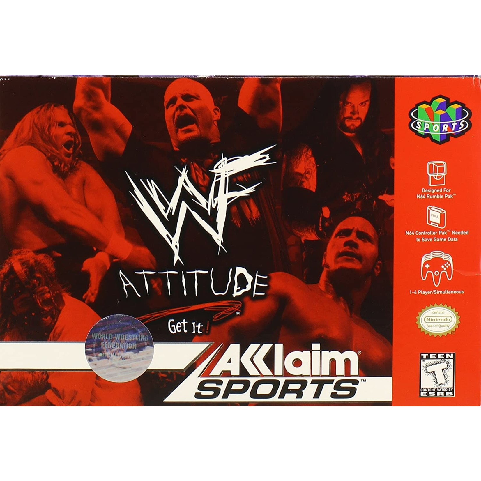 N64U-WWF Attitude (boxed)