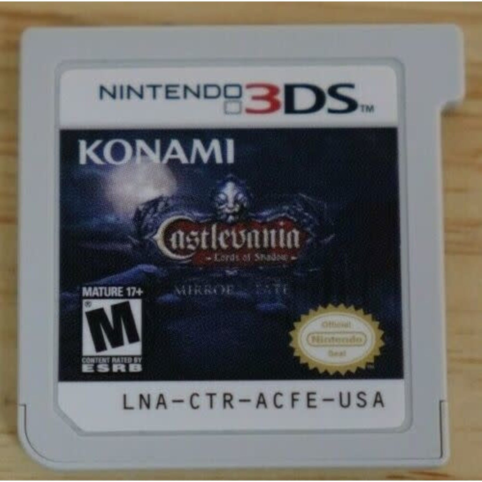 3DSU-CASTLEVANIA: LORDS OF SHADOW MIRROR OF FATE (CHIP ONLY)