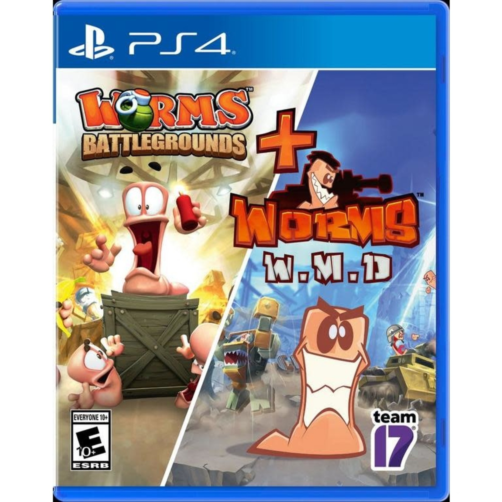 PS4-Worms Battlegrounds + Worms W.M.D