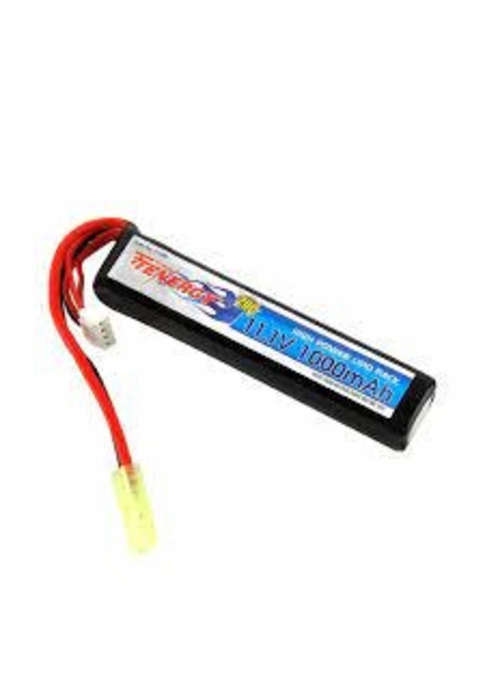 TENERGY 31598 / Tenergy 11.1V 1000mAh Battery - Li-Po Stick Pack w/ Mini Tamiya
