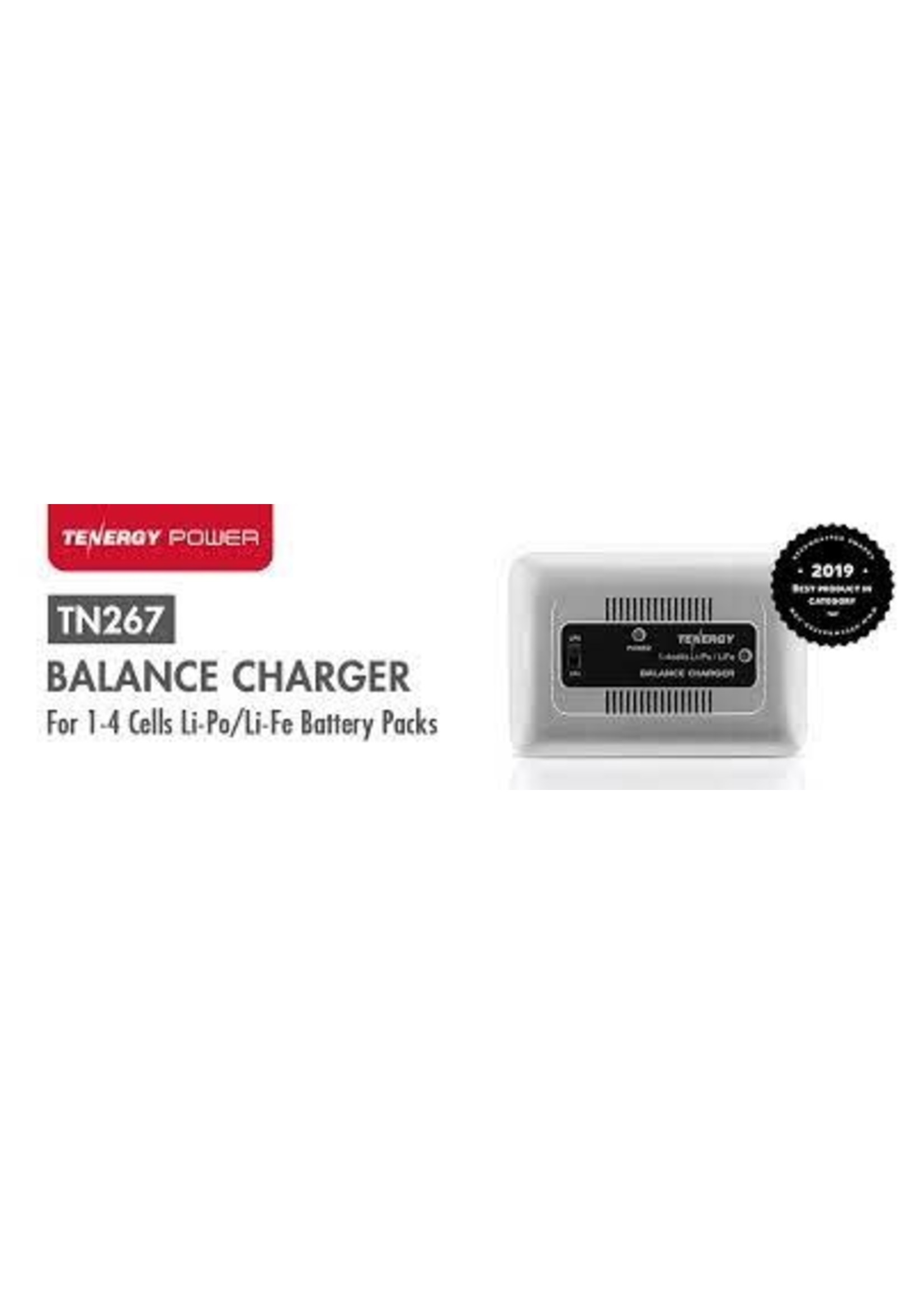 TENERGY Tenergy LiPo/LiFePO4 Balance Charger - 1A Battery Pk Charger for 1S to 4S w/ Power supply