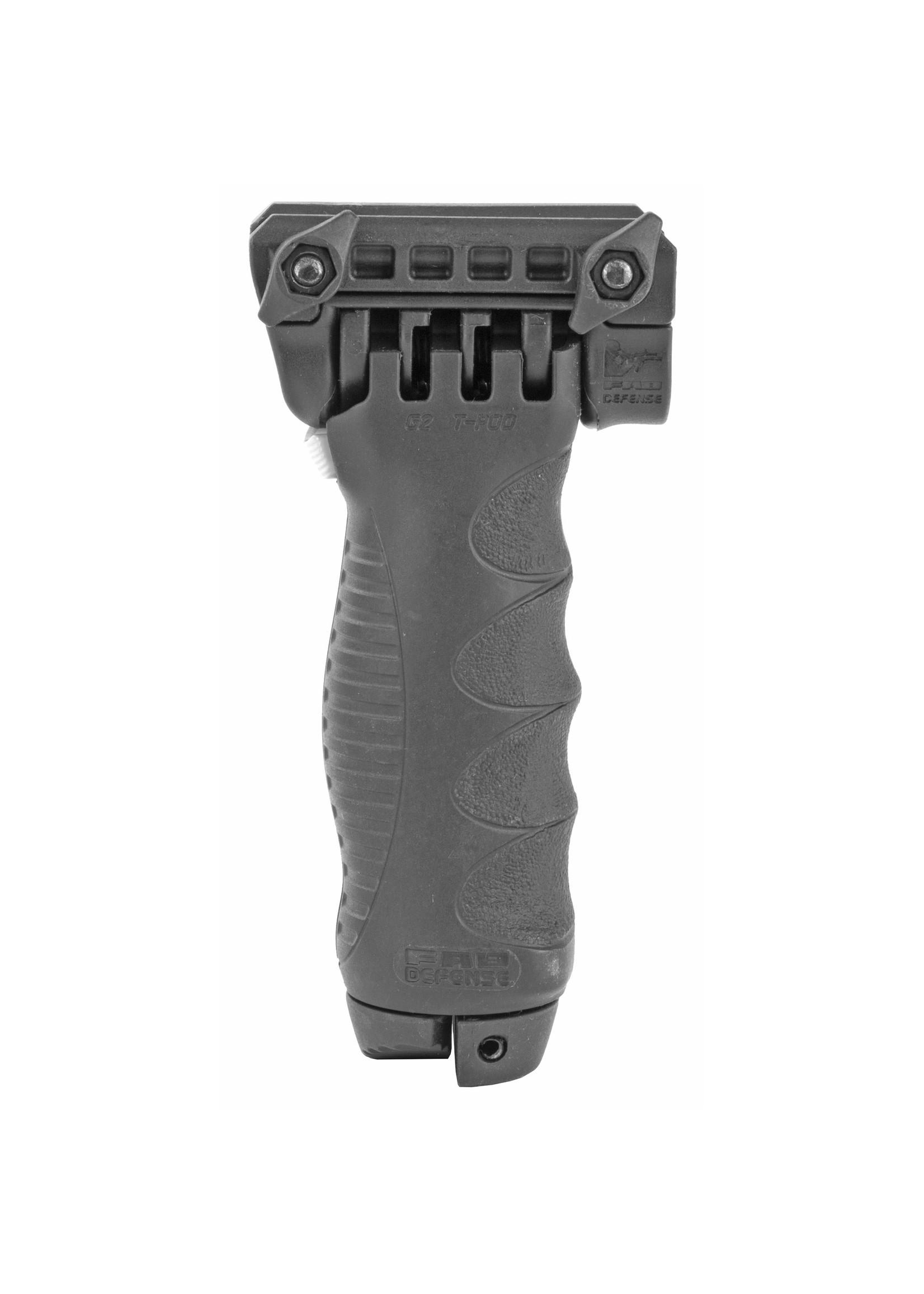 F.A.B. FAB Defense, T-POD G2 QR Foregrip with Quick Release Bipod, Fits Picatinny Rails, Black