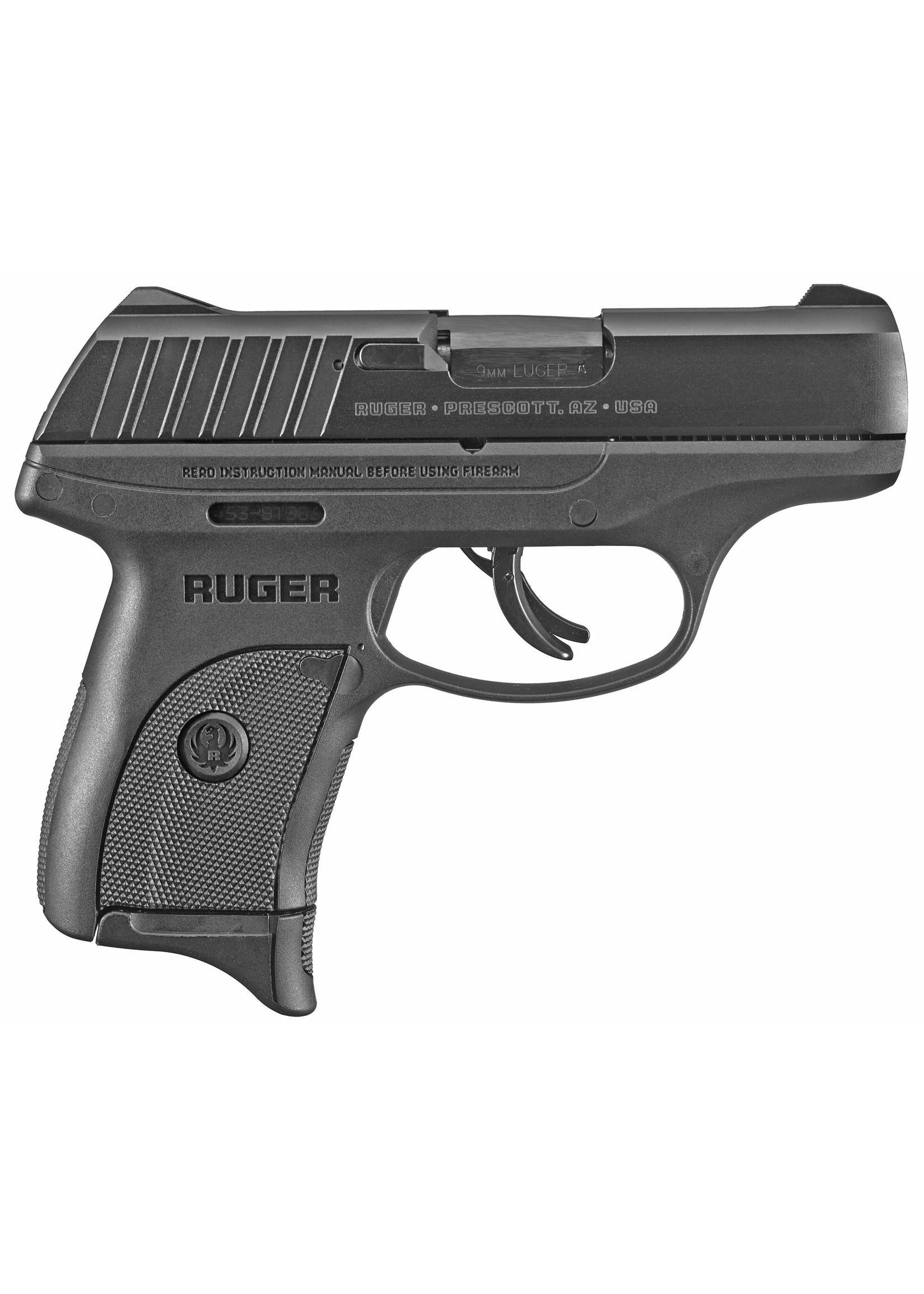 """RUGER Ruger, EC9s 9MM, 3.1""""  Black, 7Rd - TS"""