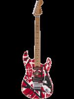 EVH EVH Striped Series Frankie Red / White / Black Stripes Relic
