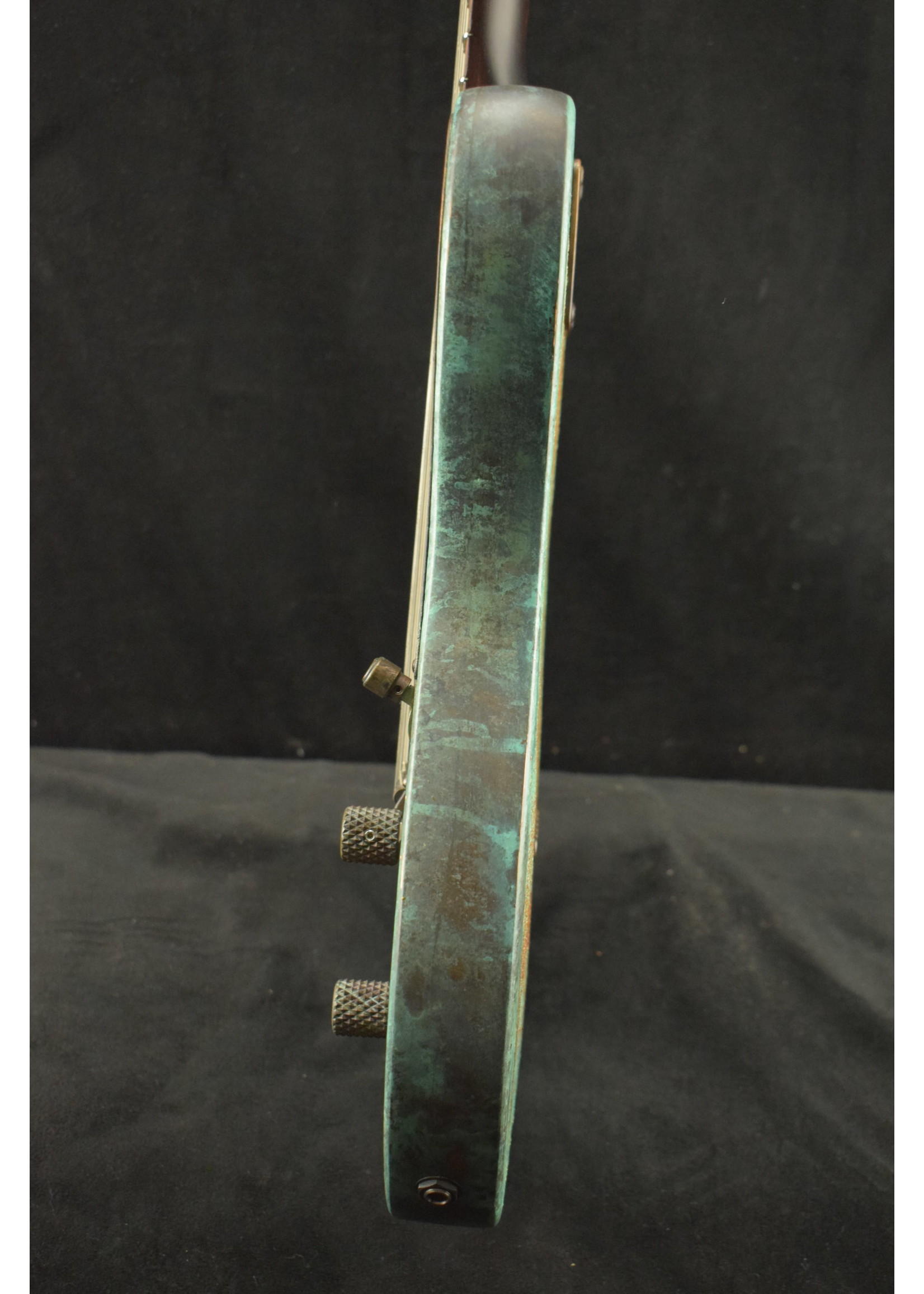 James Trussart James Trussart Titanic Green Gator Steelcaster Electric Guitar
