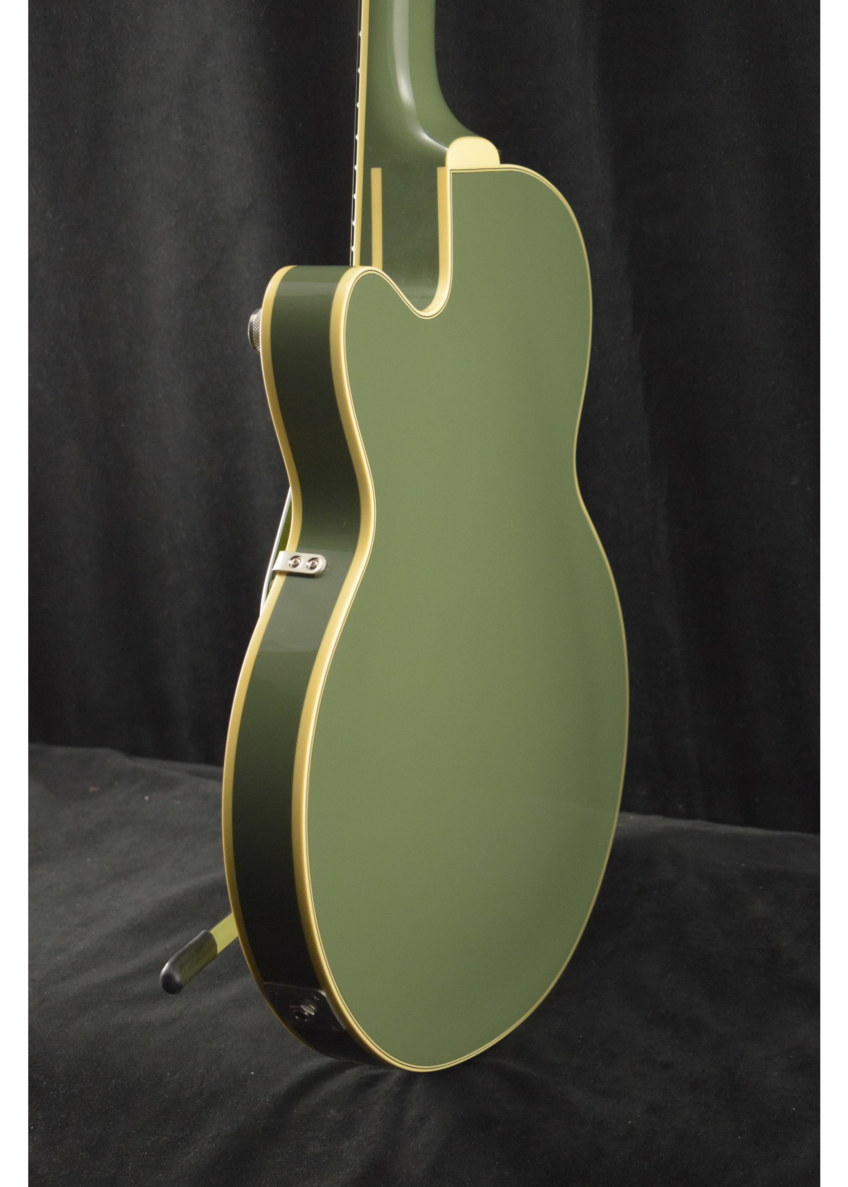 Gretsch Gretsch G6659T BroadKaster Jr. with String Through Bigsby Two-Tone Smoke Green
