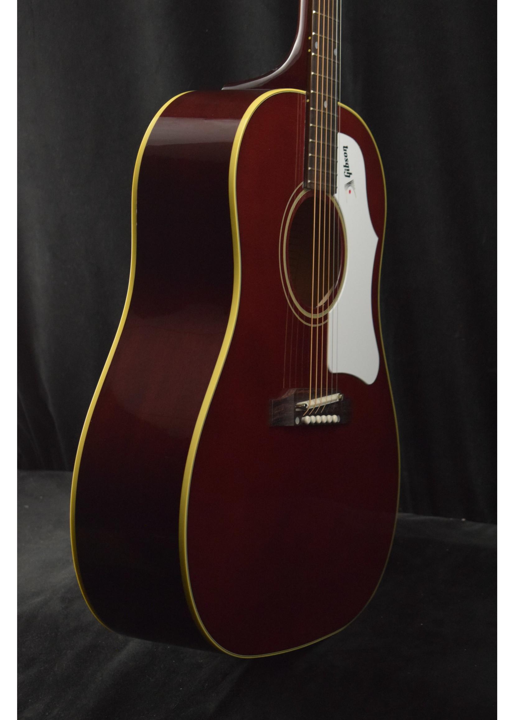 Gibson Gibson 60s J-45 Original Adj. Saddle (No Pickup) Wine Red