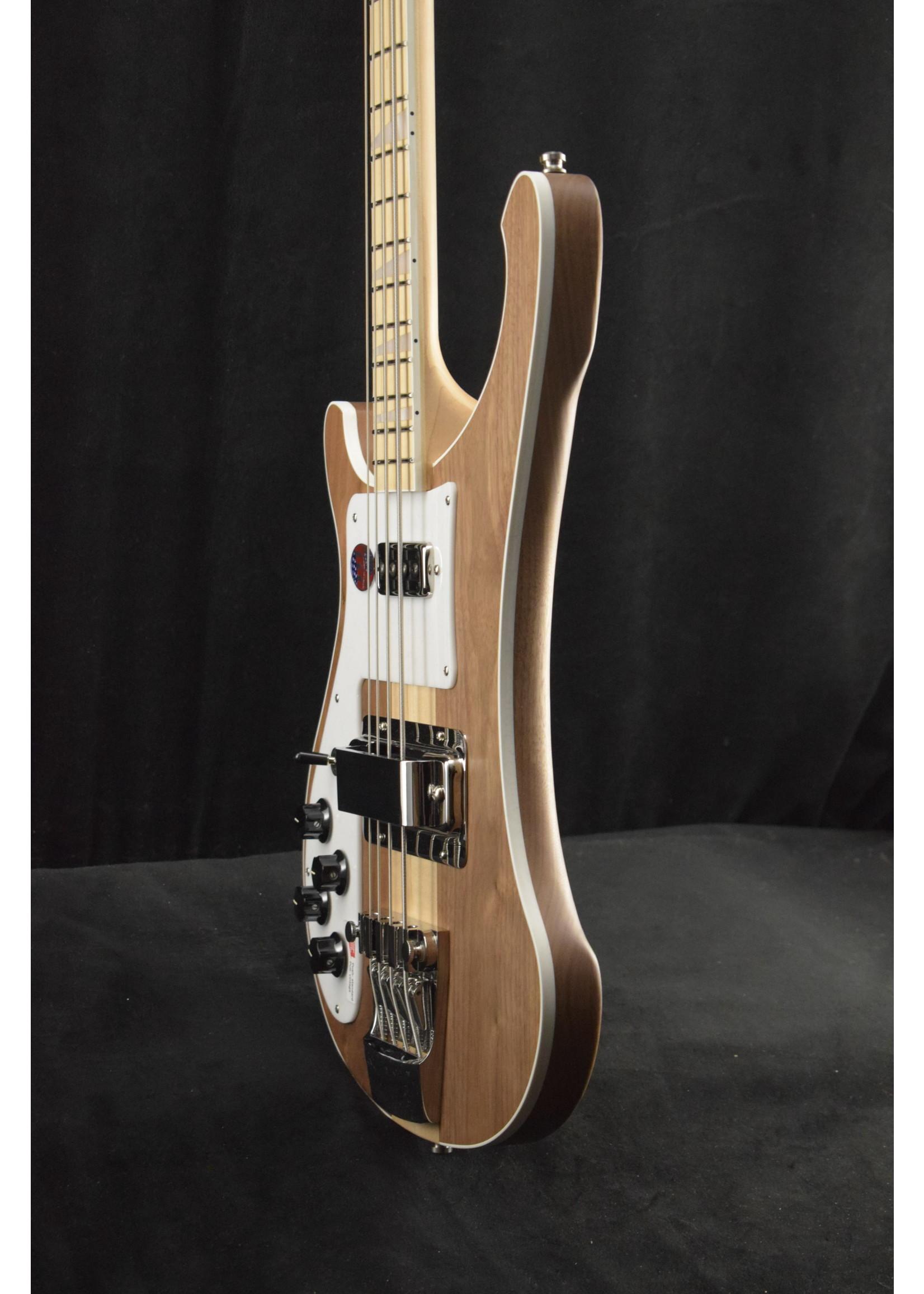 Rickenbacker Rickenbacker 4003W LH Left-Hand Walnut Bass Guitar Natural with Vintage Silver Vinyl Hardshell Case