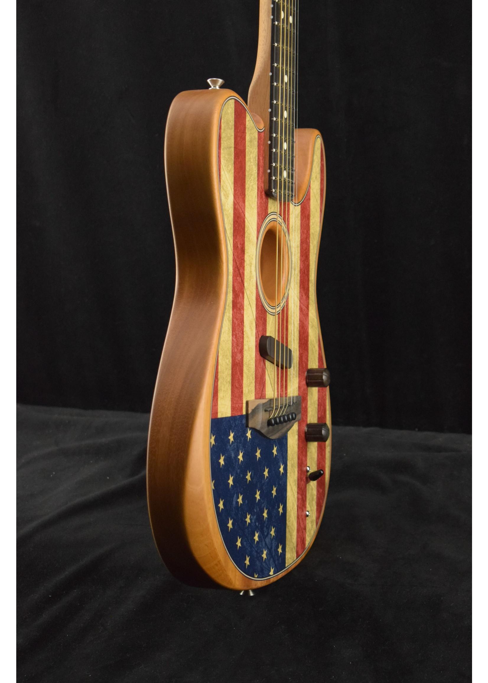 Fender Fender American Acoustasonic Telecaster EB Ebony Fingerboard Flag