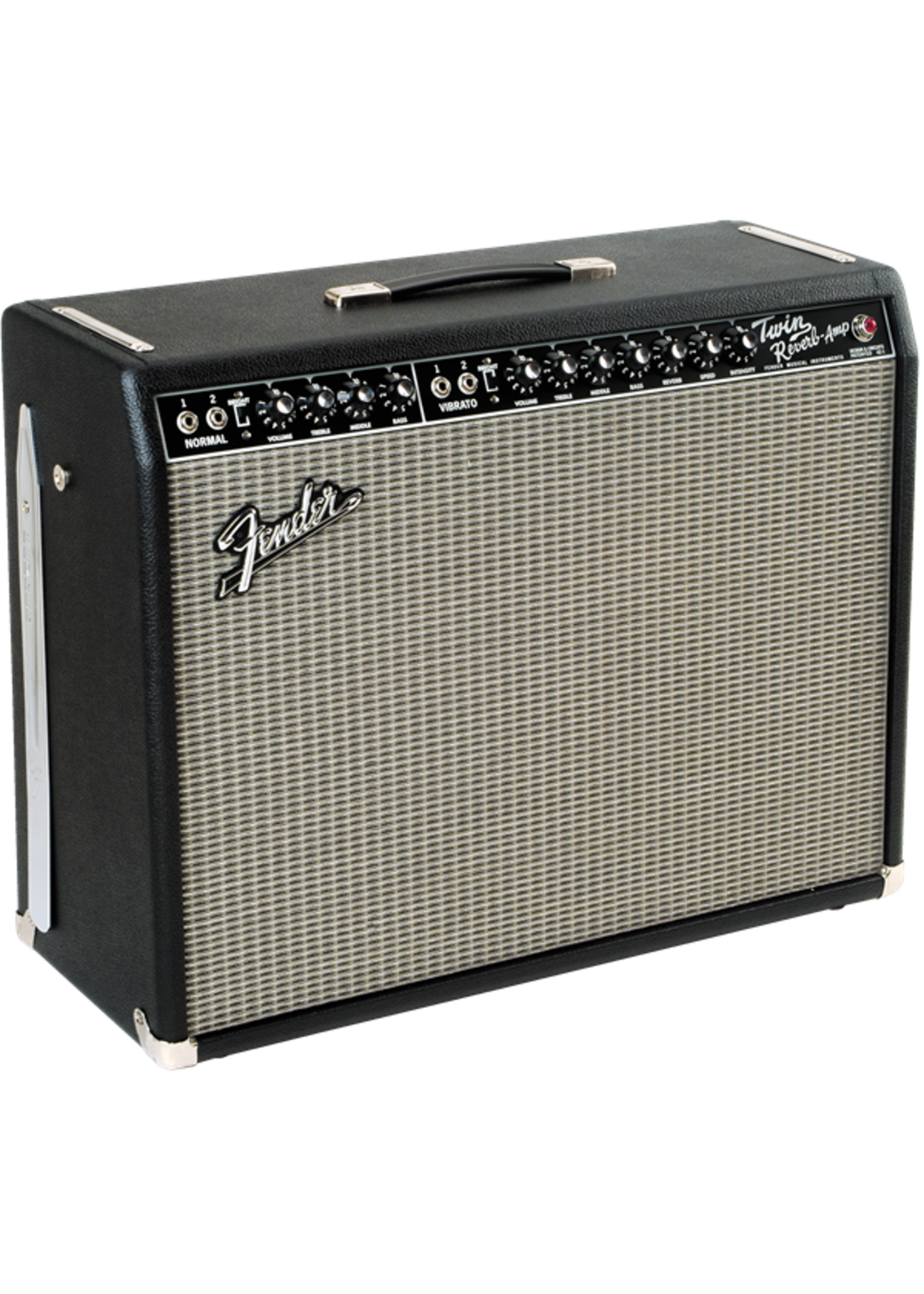 Fender Fender '65 Twin Reverb 120V 85-Watts Guitar Combo Amp Black/Silver