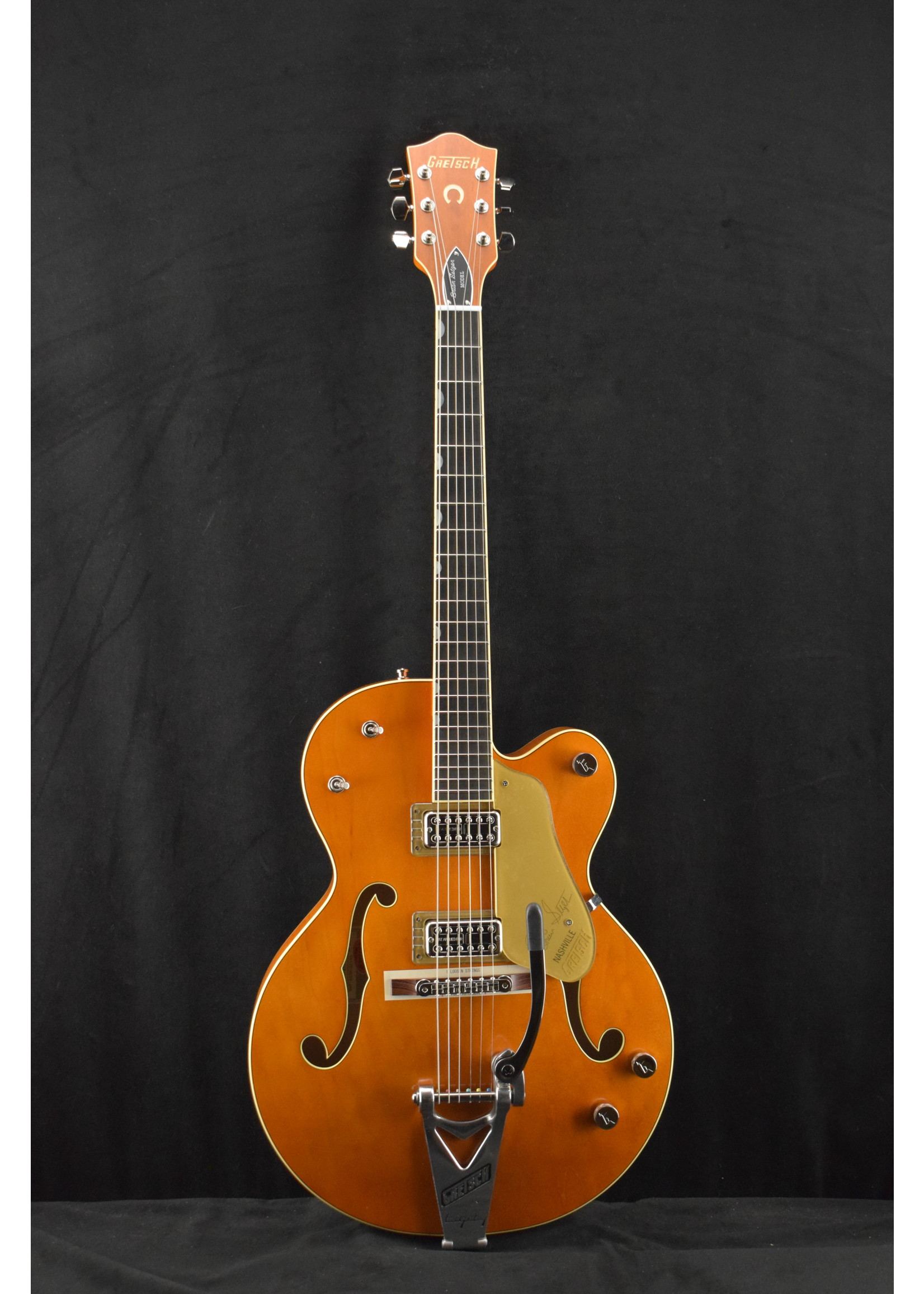 """Gretsch Gretsch G6120T-BSSMK Brian Setzer Signature Nashville '59 """"Smoke"""" Orange"""