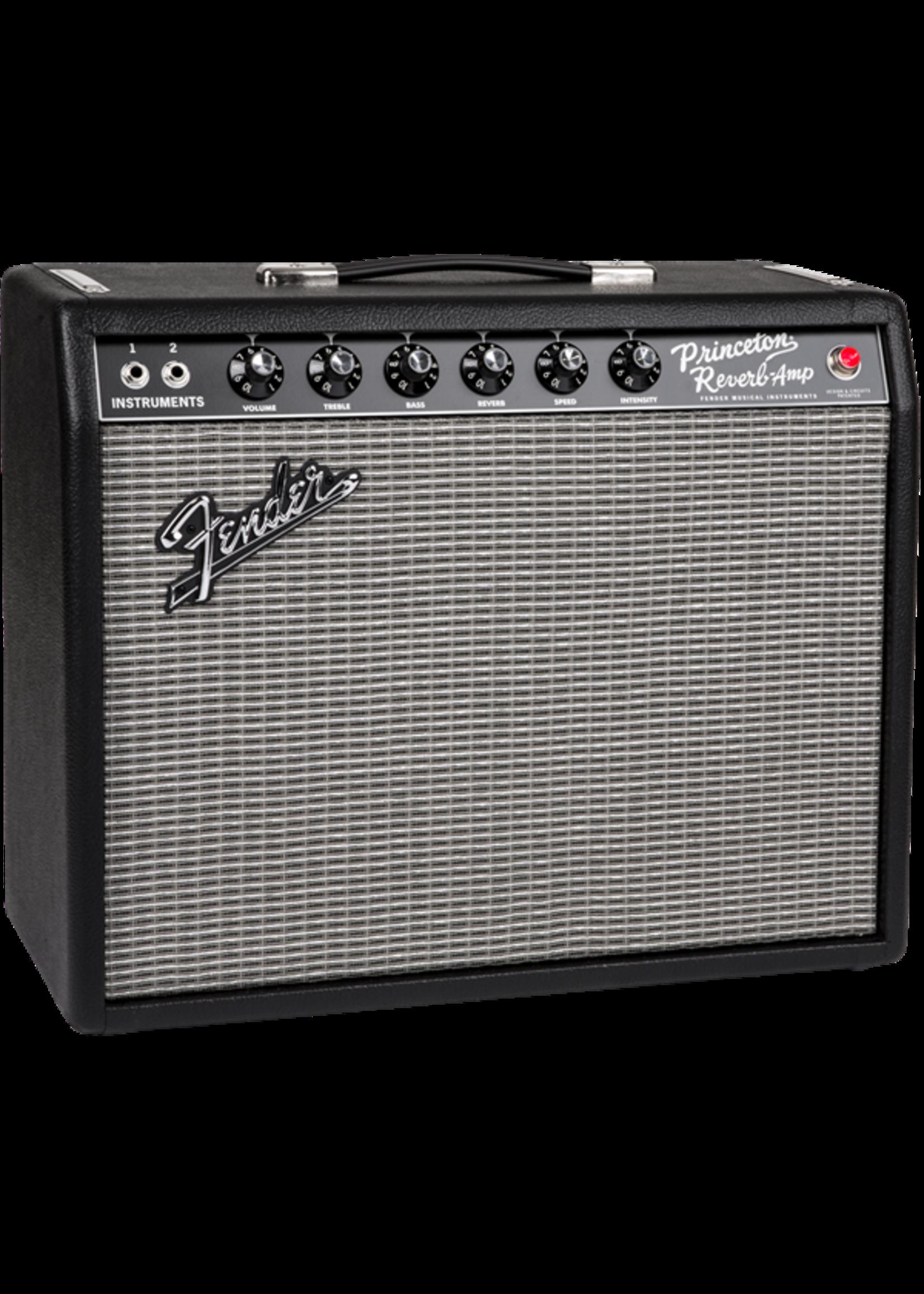 """Fender Fender '65 Princeton Reverb Reissue 15-Watt 1x10"""" Guitar Combo Black"""